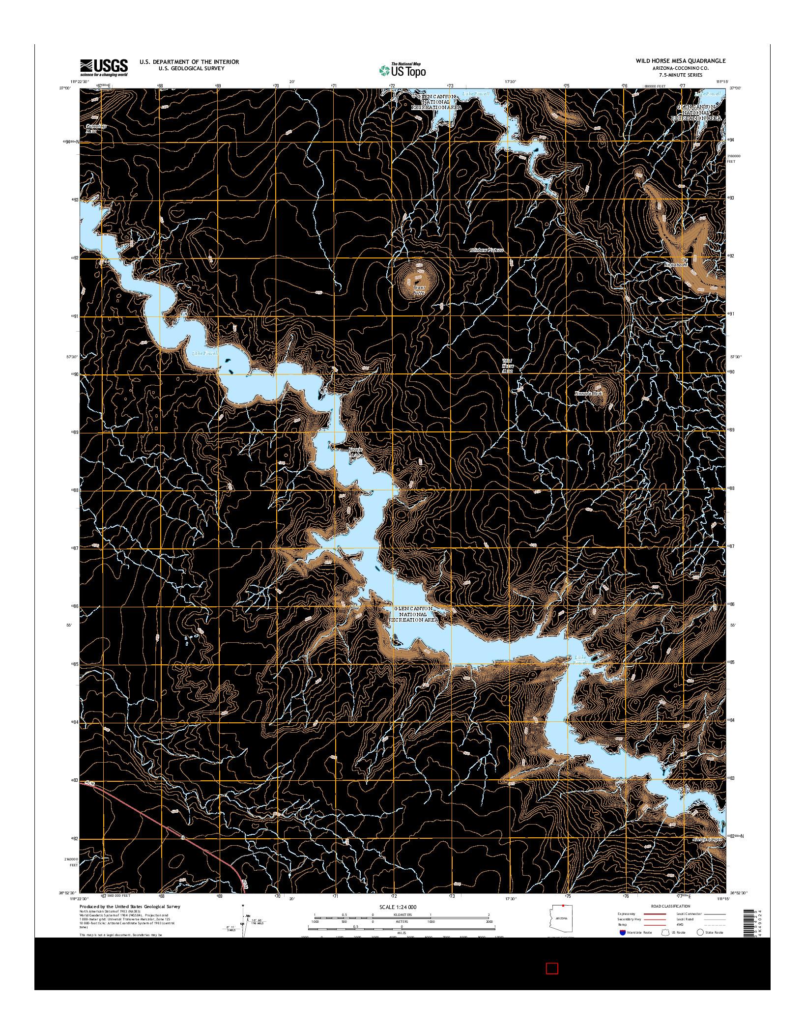 USGS US TOPO 7.5-MINUTE MAP FOR WILD HORSE MESA, AZ 2014