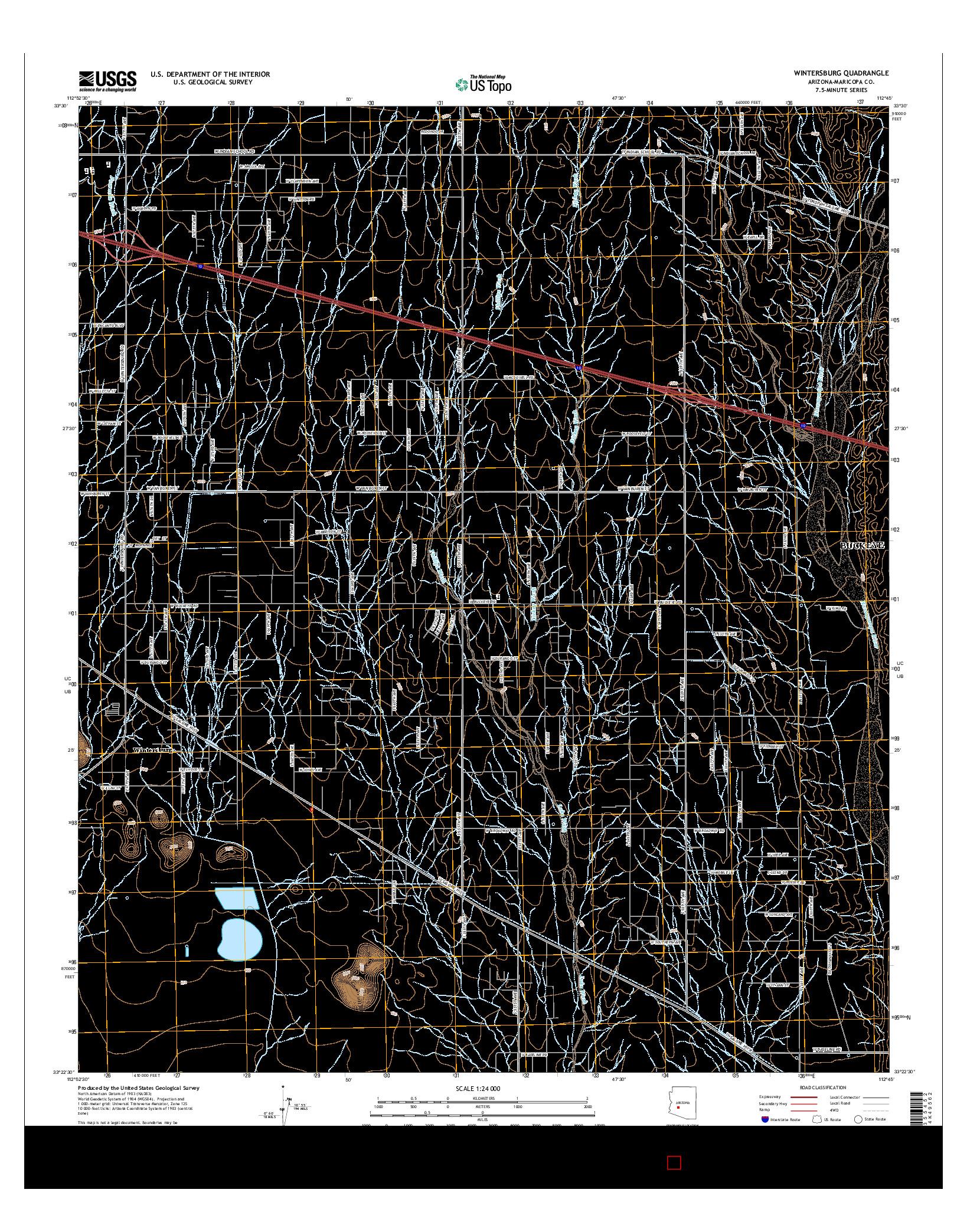 USGS US TOPO 7.5-MINUTE MAP FOR WINTERSBURG, AZ 2014