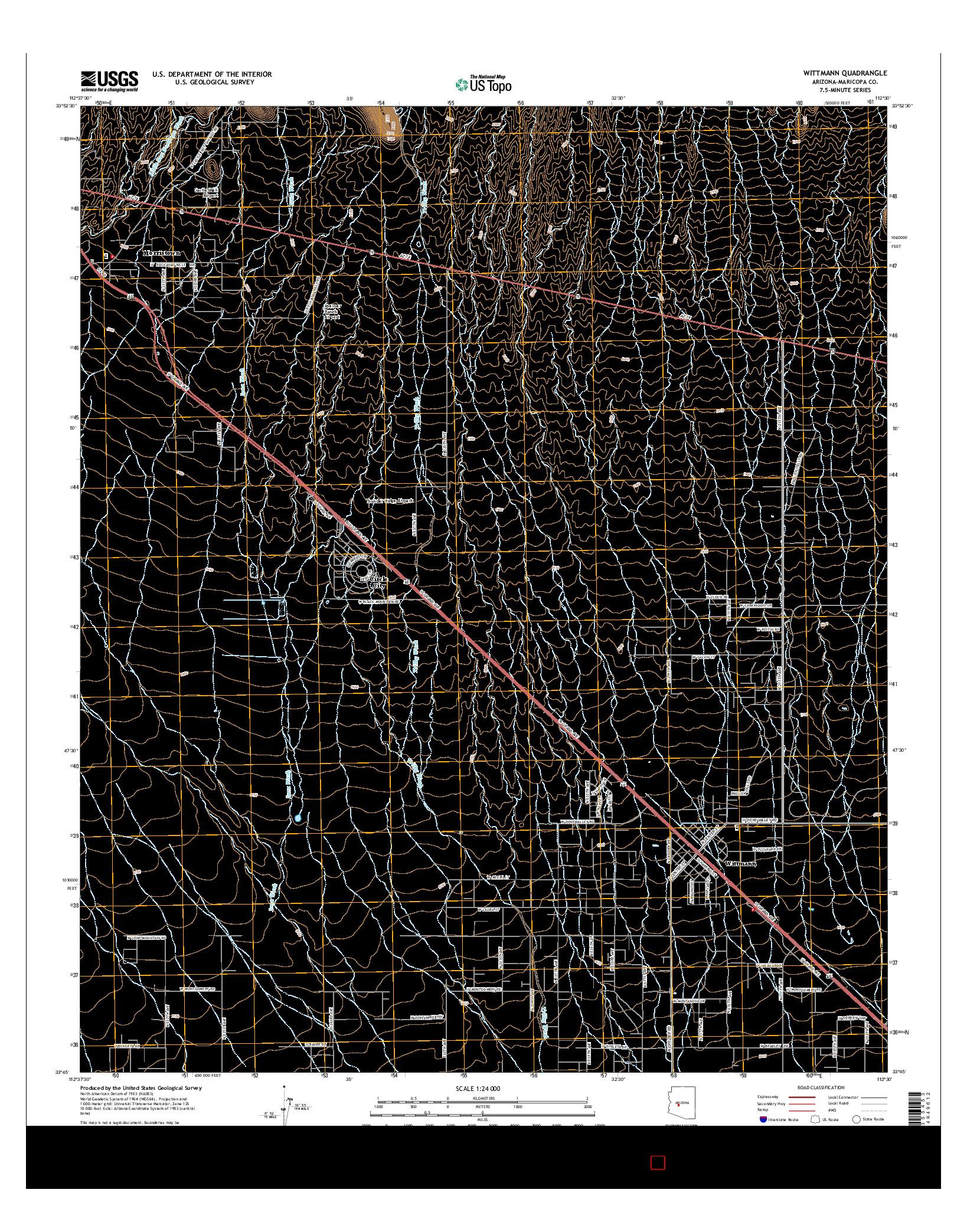 USGS US TOPO 7.5-MINUTE MAP FOR WITTMANN, AZ 2014