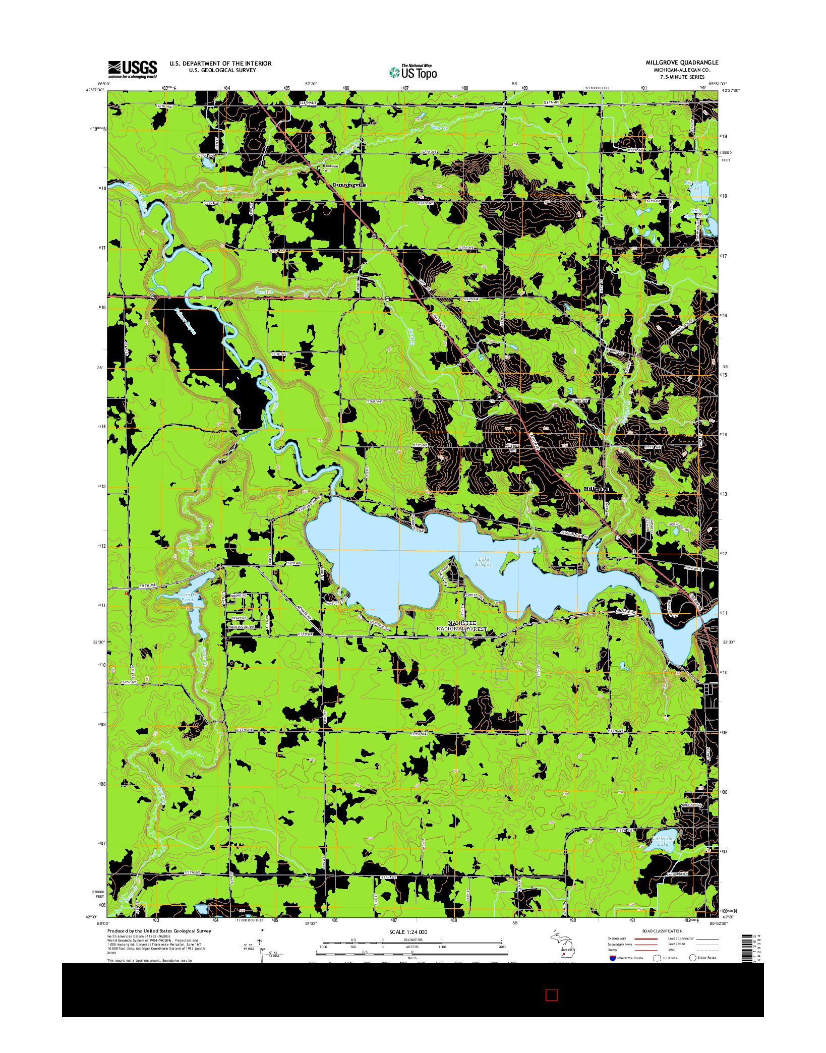 USGS US TOPO 7.5-MINUTE MAP FOR MILLGROVE, MI 2014
