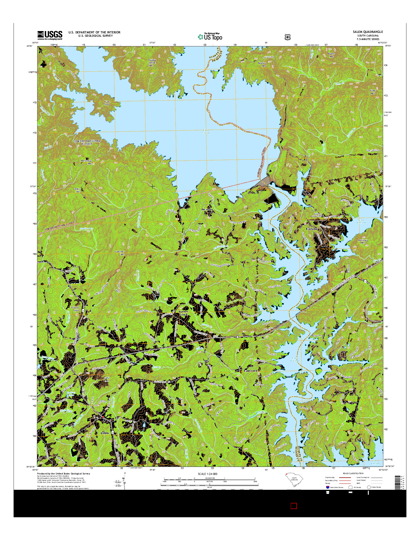 USGS US TOPO 7.5-MINUTE MAP FOR SALEM, SC 2014