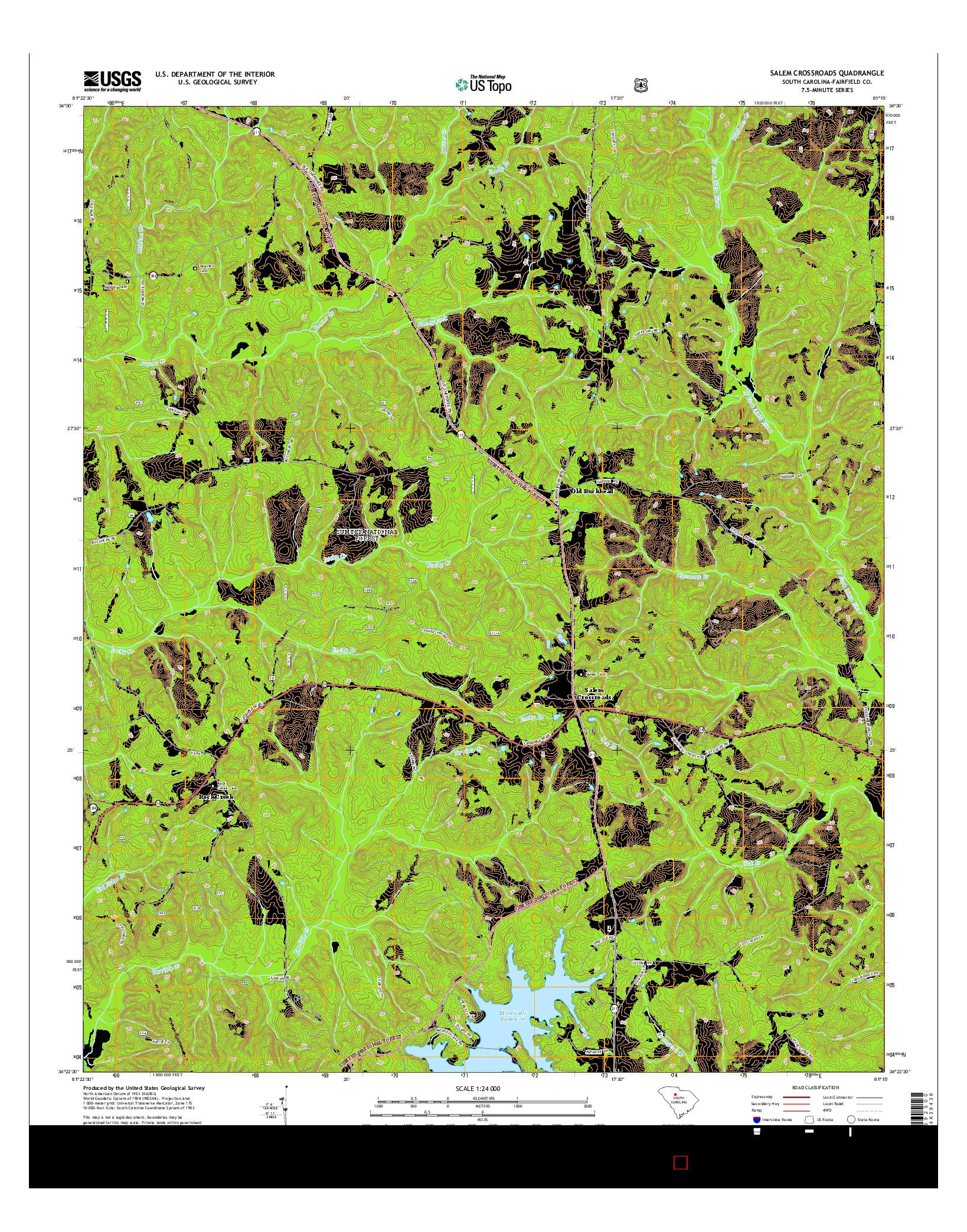 USGS US TOPO 7.5-MINUTE MAP FOR SALEM CROSSROADS, SC 2014