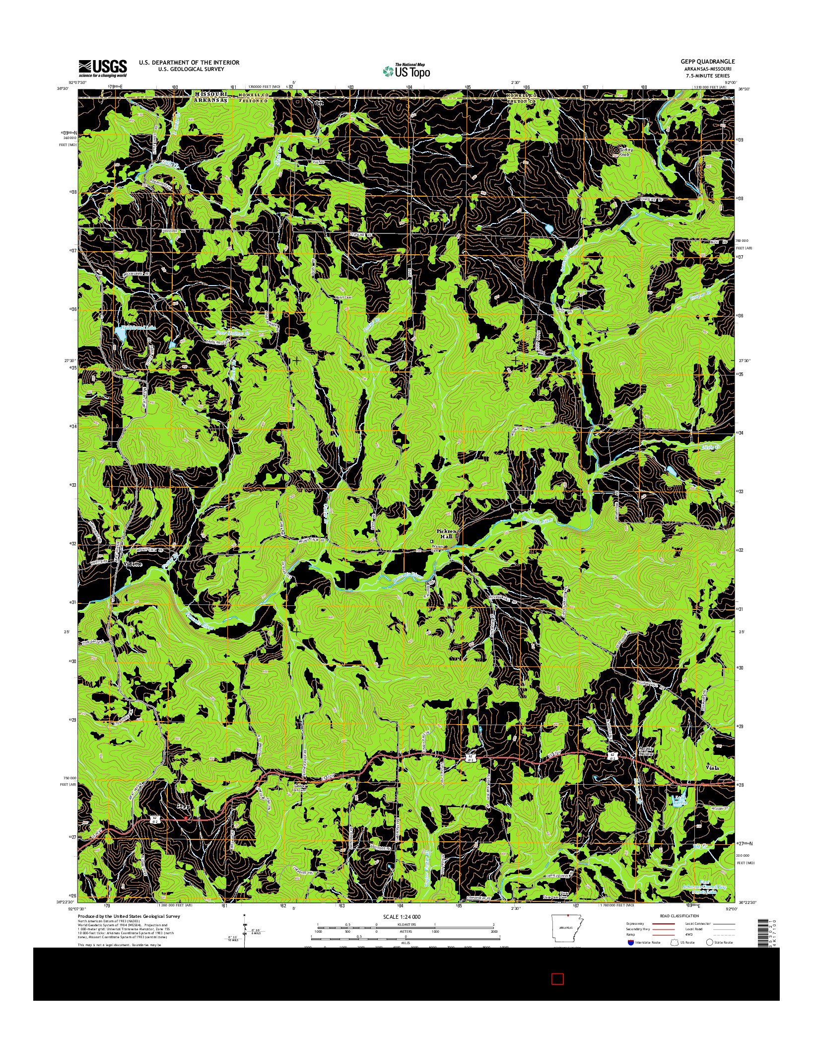 USGS US TOPO 7.5-MINUTE MAP FOR GEPP, AR-MO 2014