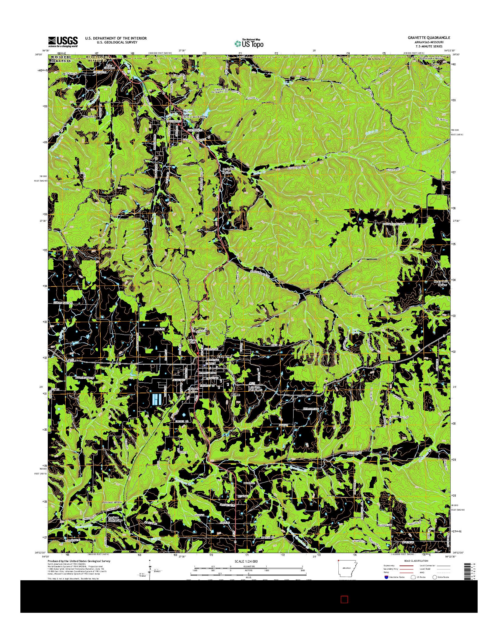 USGS US TOPO 7.5-MINUTE MAP FOR GRAVETTE, AR-MO 2014