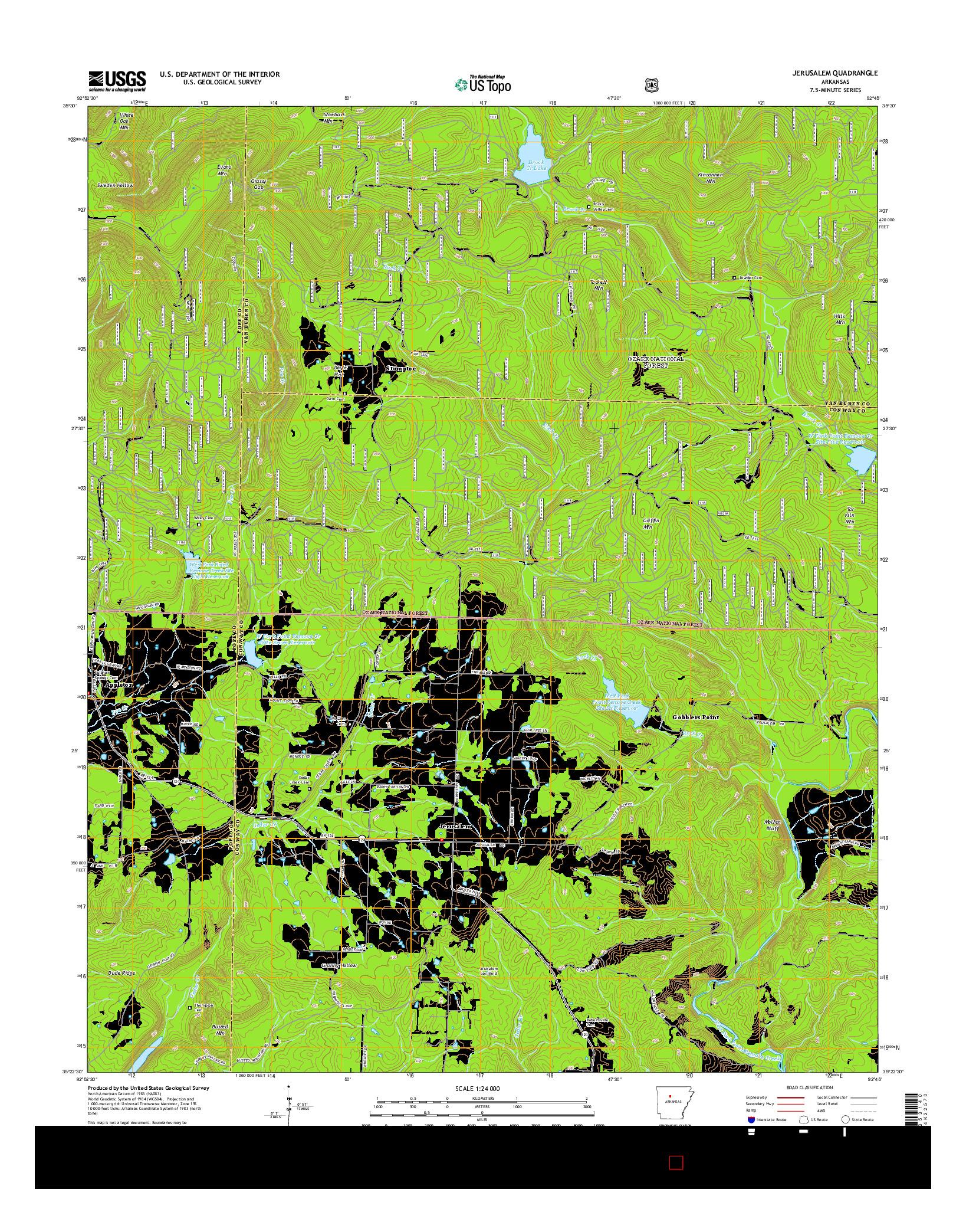 USGS US TOPO 7.5-MINUTE MAP FOR JERUSALEM, AR 2014