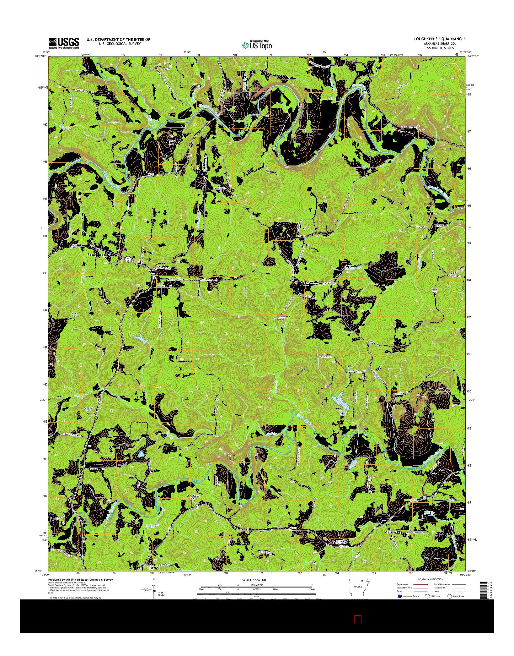 USGS US TOPO 7.5-MINUTE MAP FOR POUGHKEEPSIE, AR 2014