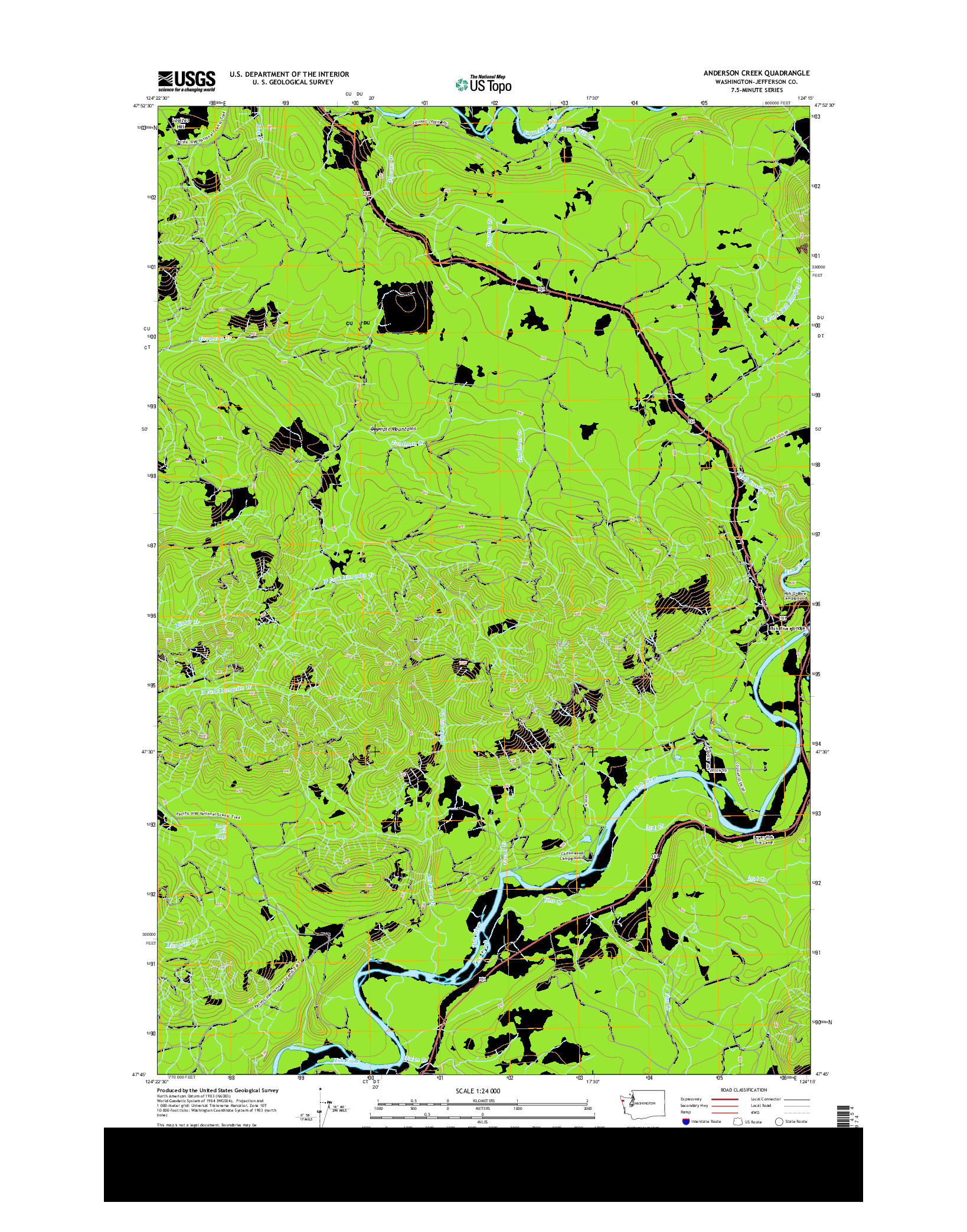 USGS US TOPO 7.5-MINUTE MAP FOR ANDERSON CREEK, WA 2014