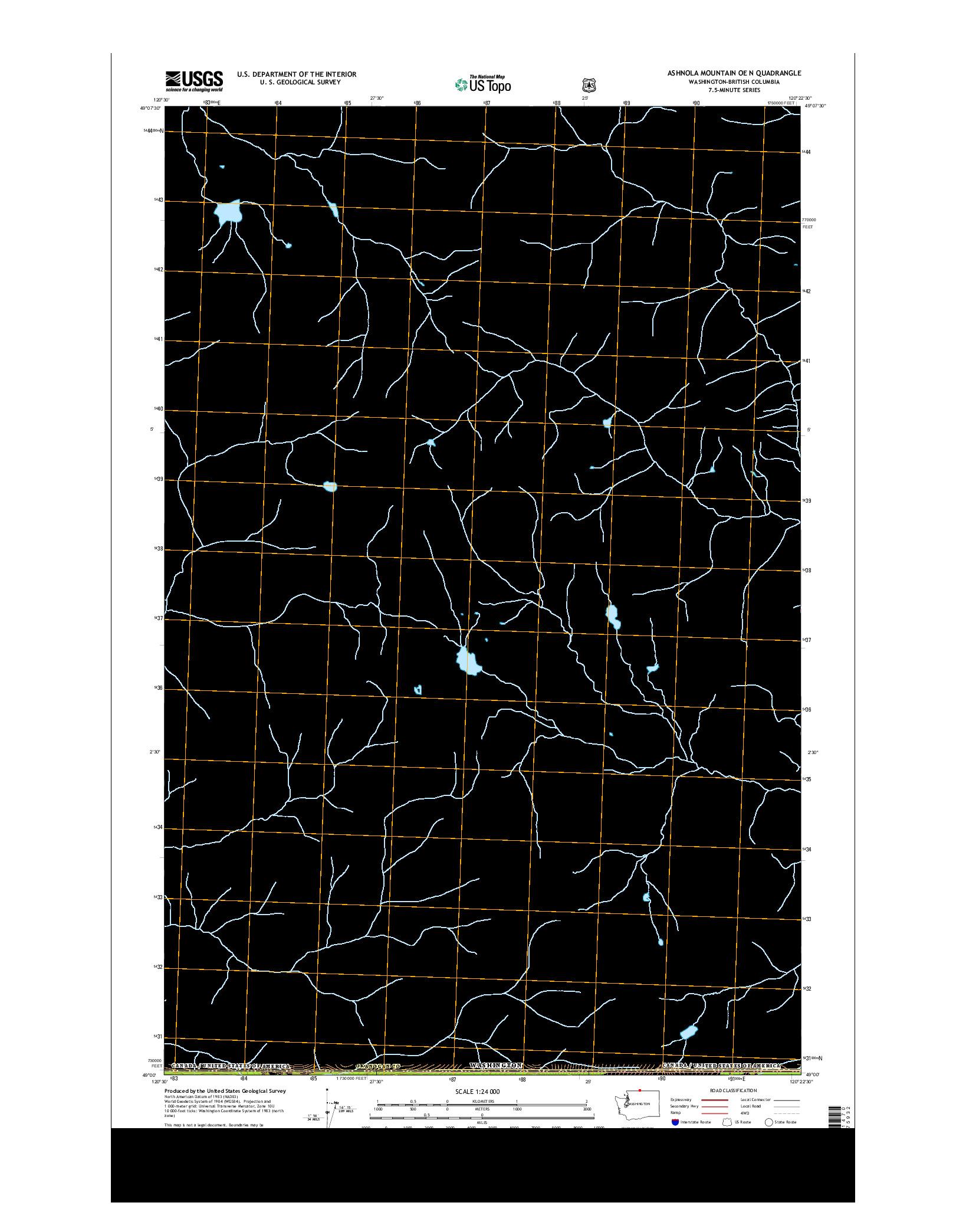 USGS US TOPO 7.5-MINUTE MAP FOR ASHNOLA MOUNTAIN OE N, WA-BC 2014