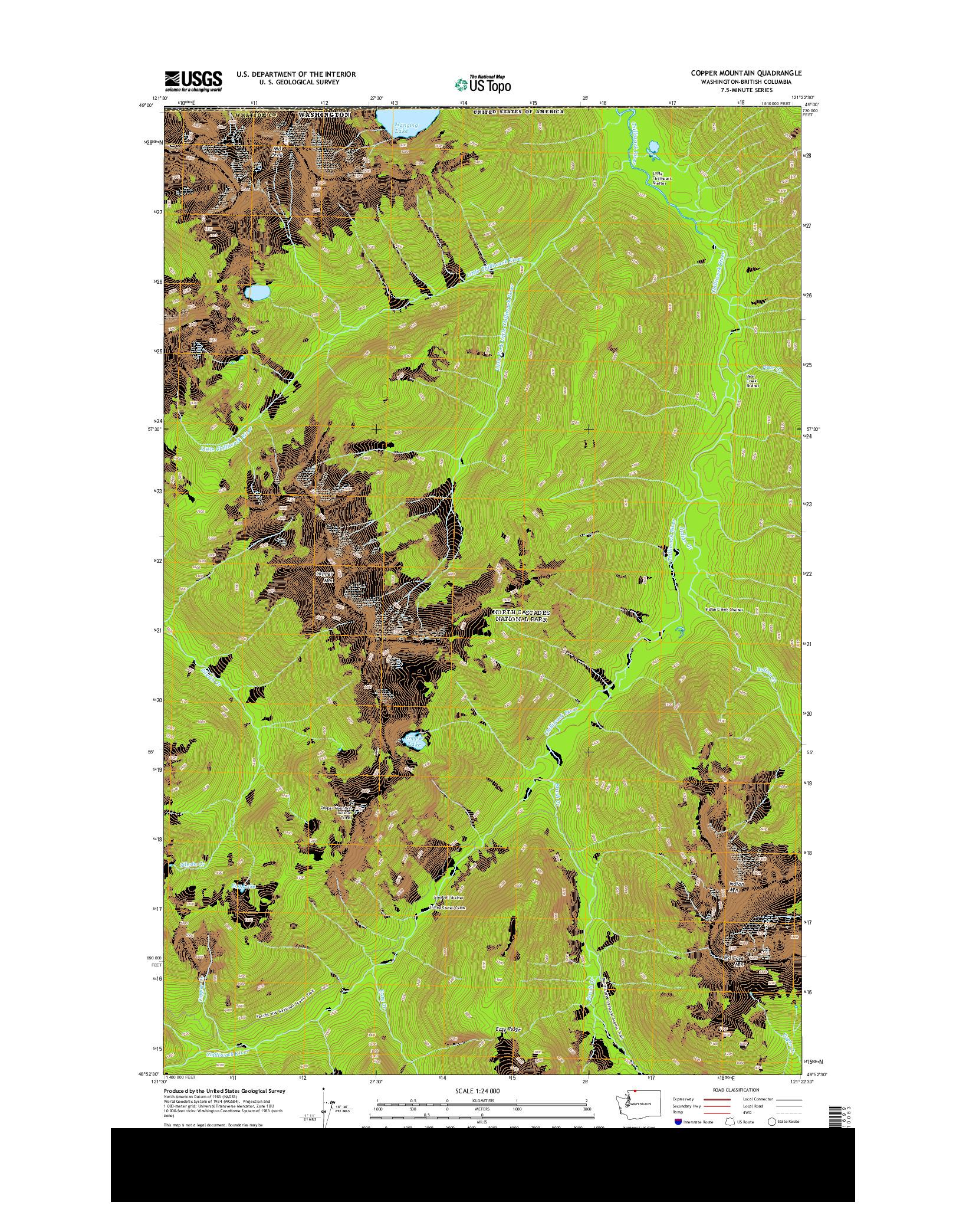USGS US TOPO 7.5-MINUTE MAP FOR COPPER MOUNTAIN, WA-BC 2014