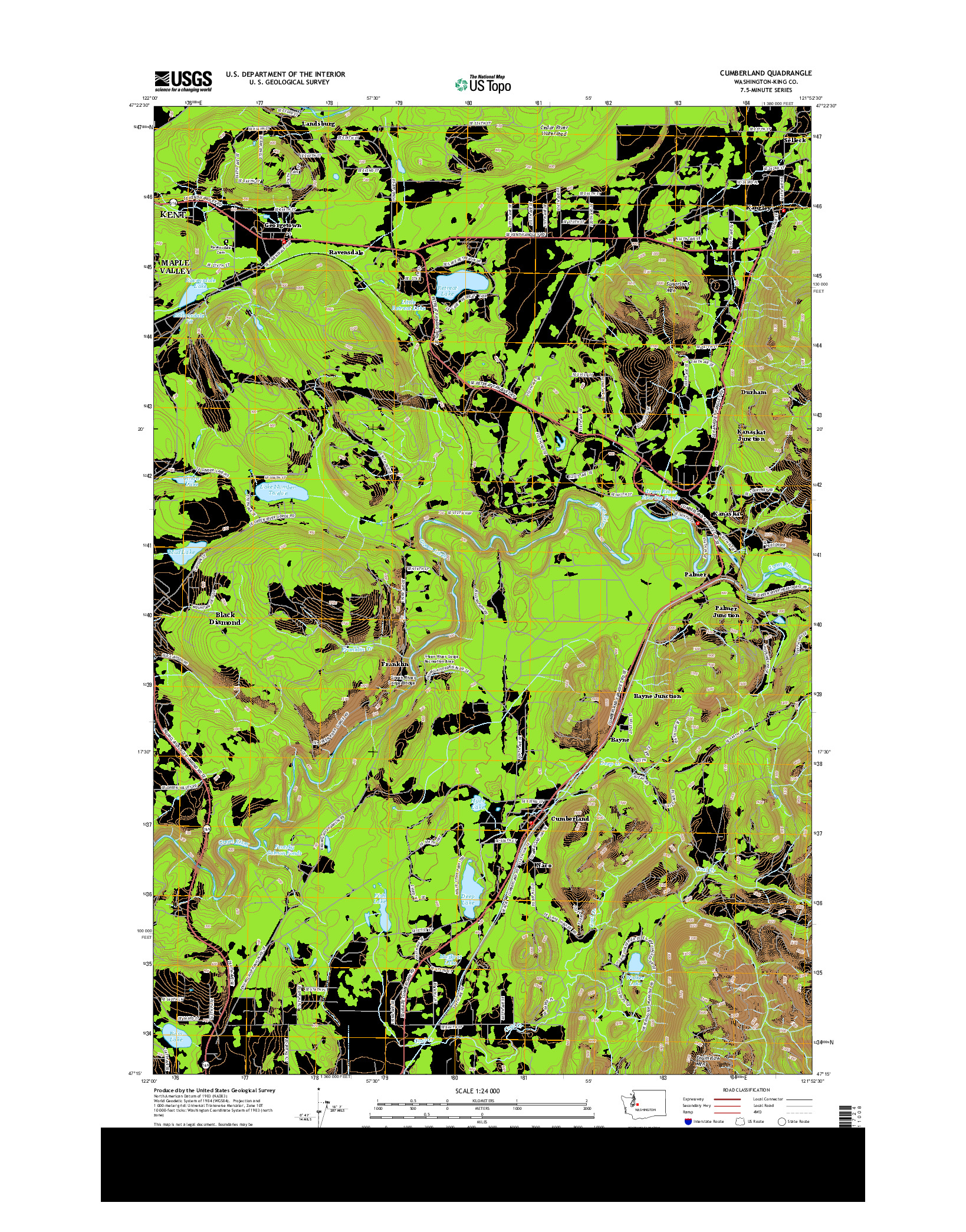 USGS US TOPO 7.5-MINUTE MAP FOR CUMBERLAND, WA 2014