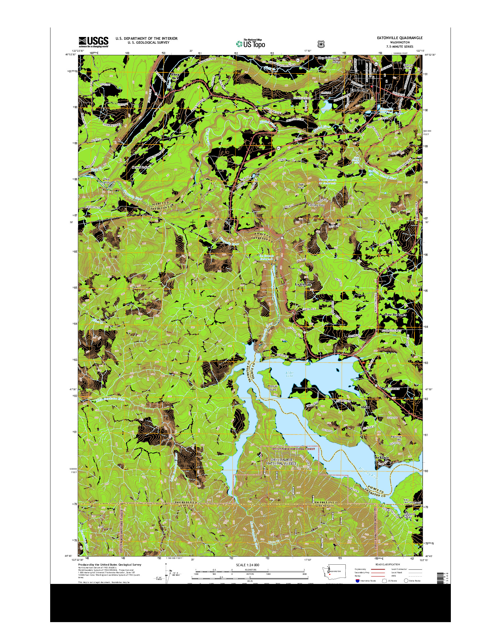 USGS US TOPO 7.5-MINUTE MAP FOR EATONVILLE, WA 2014