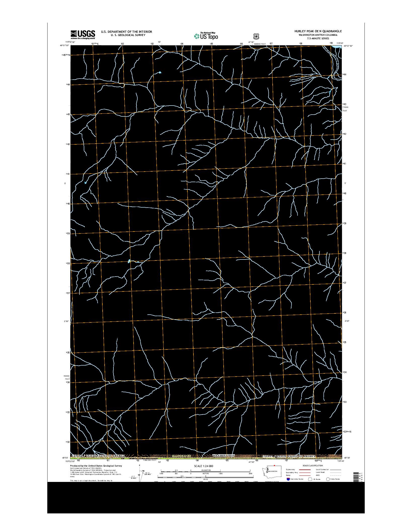 USGS US TOPO 7.5-MINUTE MAP FOR HURLEY PEAK OE N, WA-BC 2014