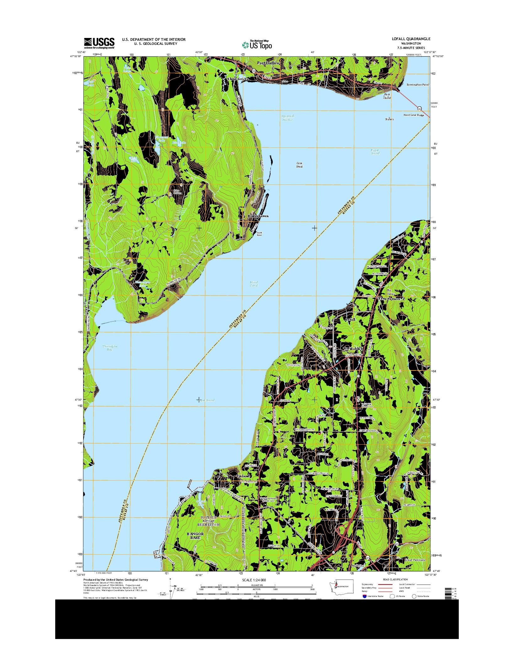 USGS US TOPO 7.5-MINUTE MAP FOR LOFALL, WA 2014