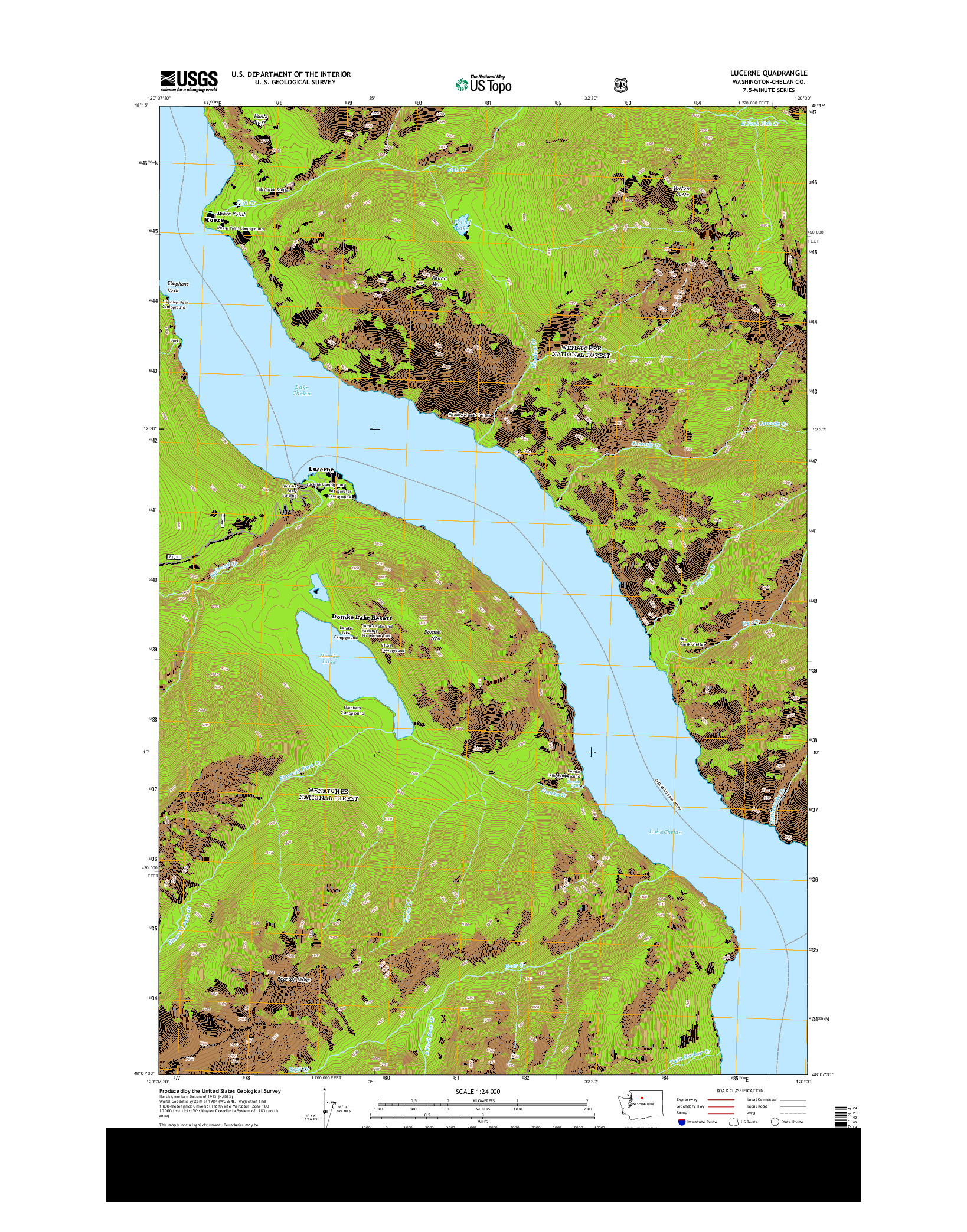 USGS US TOPO 7.5-MINUTE MAP FOR LUCERNE, WA 2014
