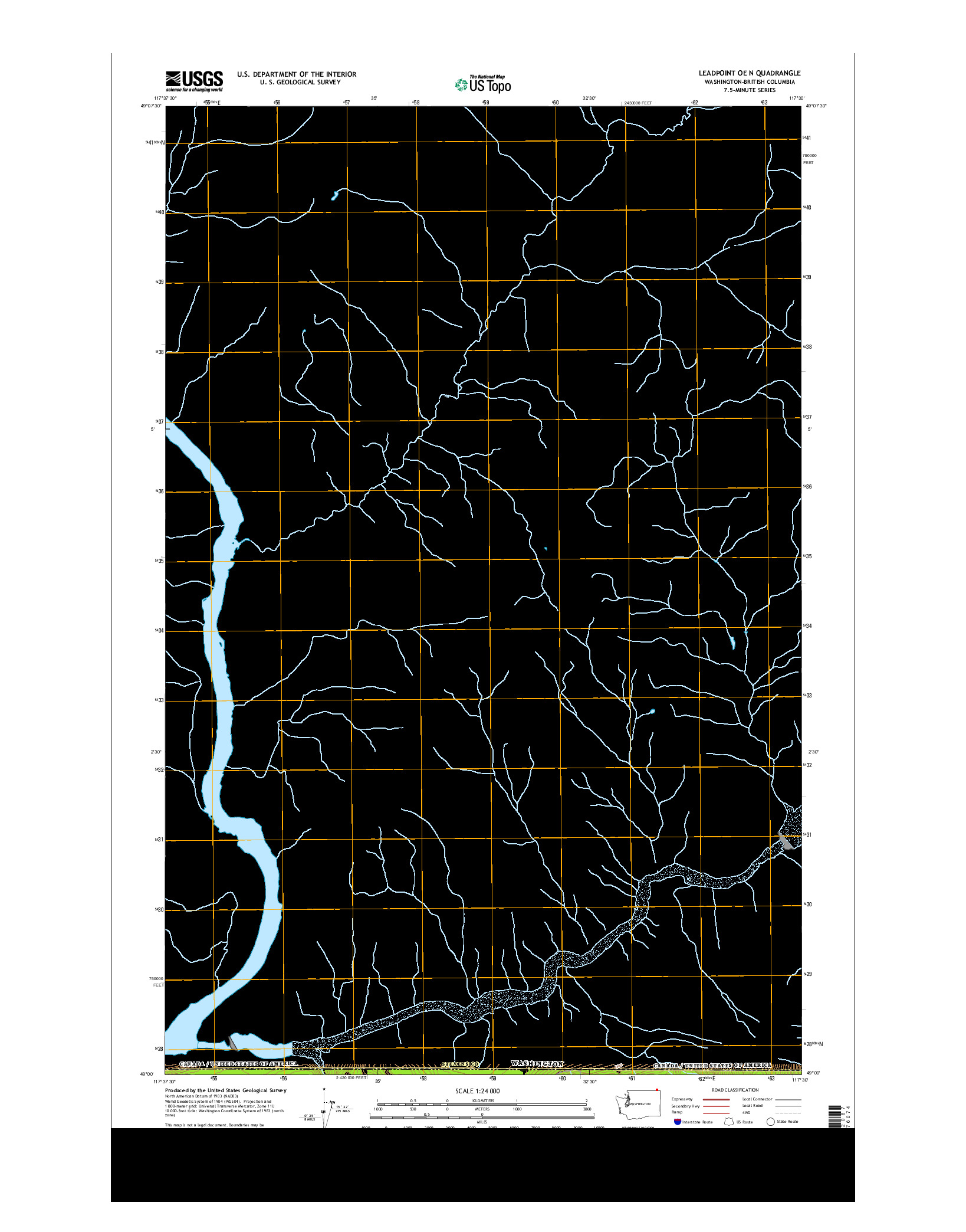 USGS US TOPO 7.5-MINUTE MAP FOR LEADPOINT OE N, WA-BC 2014