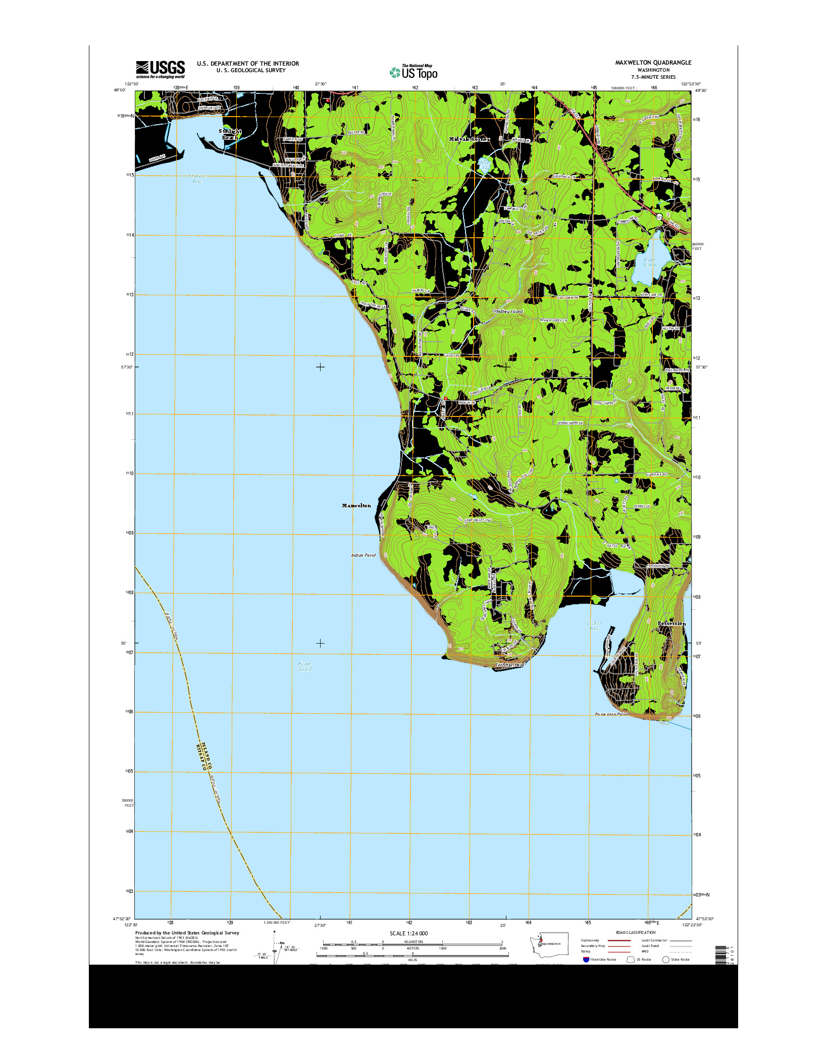 USGS US TOPO 7.5-MINUTE MAP FOR MAXWELTON, WA 2014