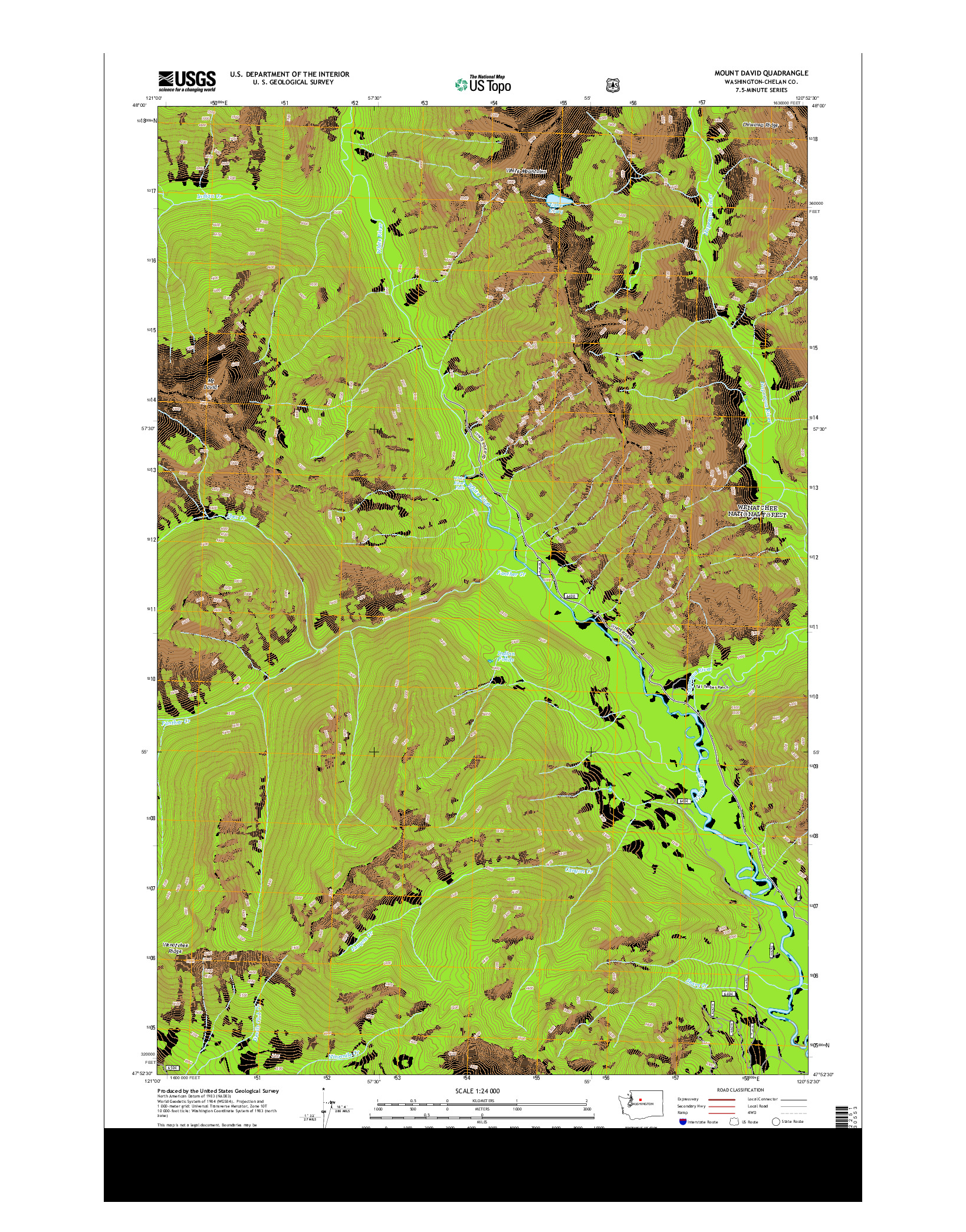 USGS US TOPO 7.5-MINUTE MAP FOR MOUNT DAVID, WA 2014
