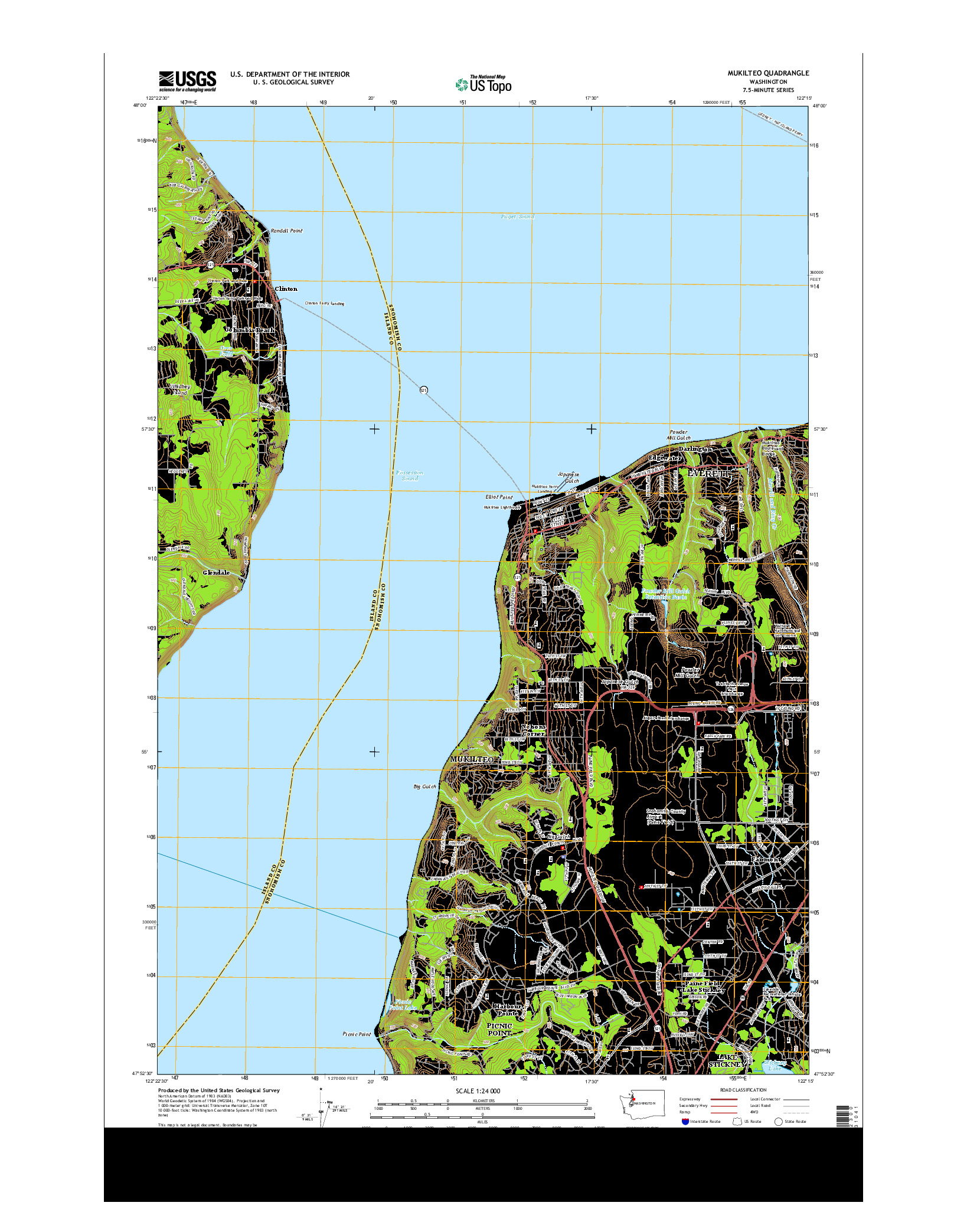 USGS US TOPO 7.5-MINUTE MAP FOR MUKILTEO, WA 2014