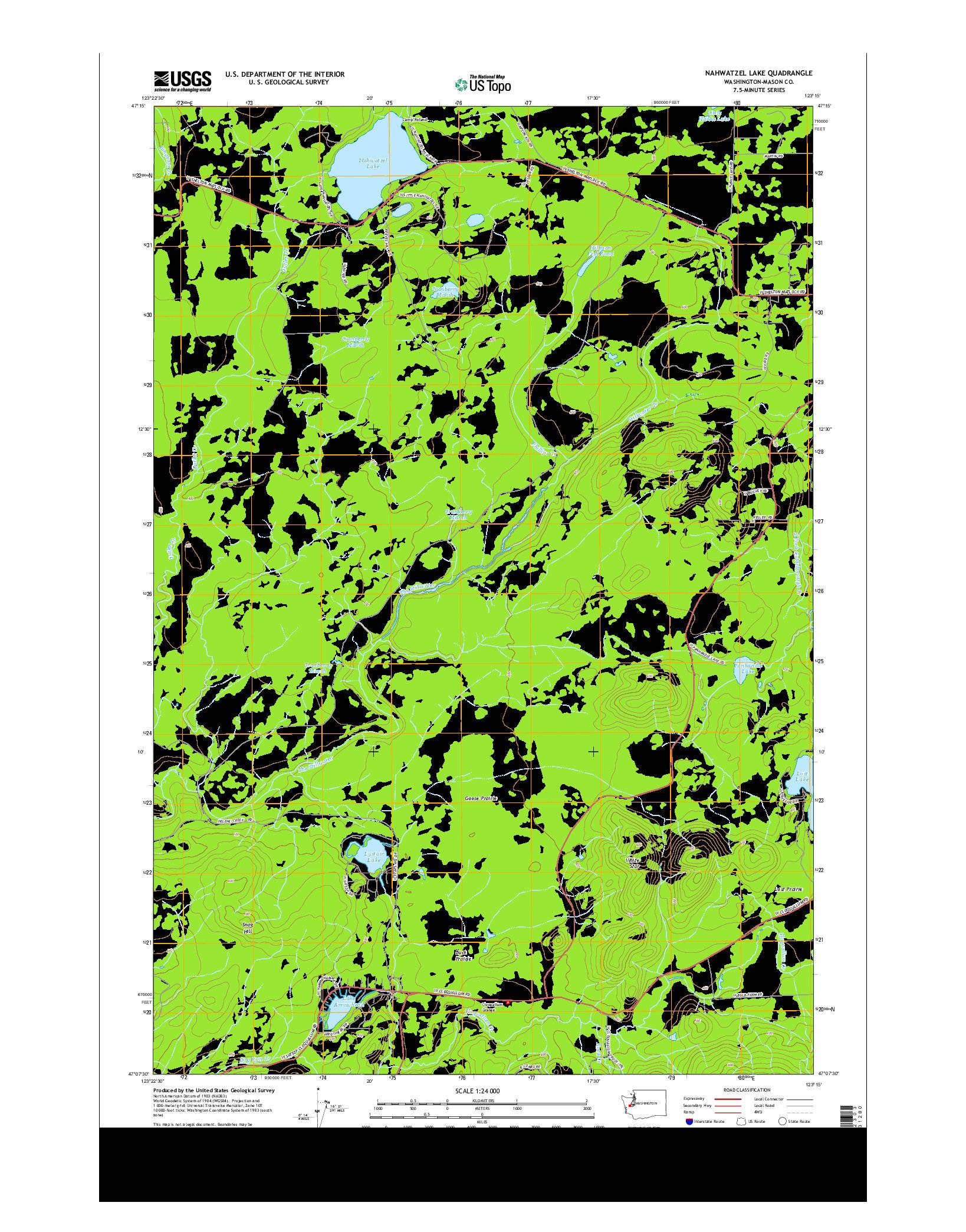 USGS US TOPO 7.5-MINUTE MAP FOR NAHWATZEL LAKE, WA 2014