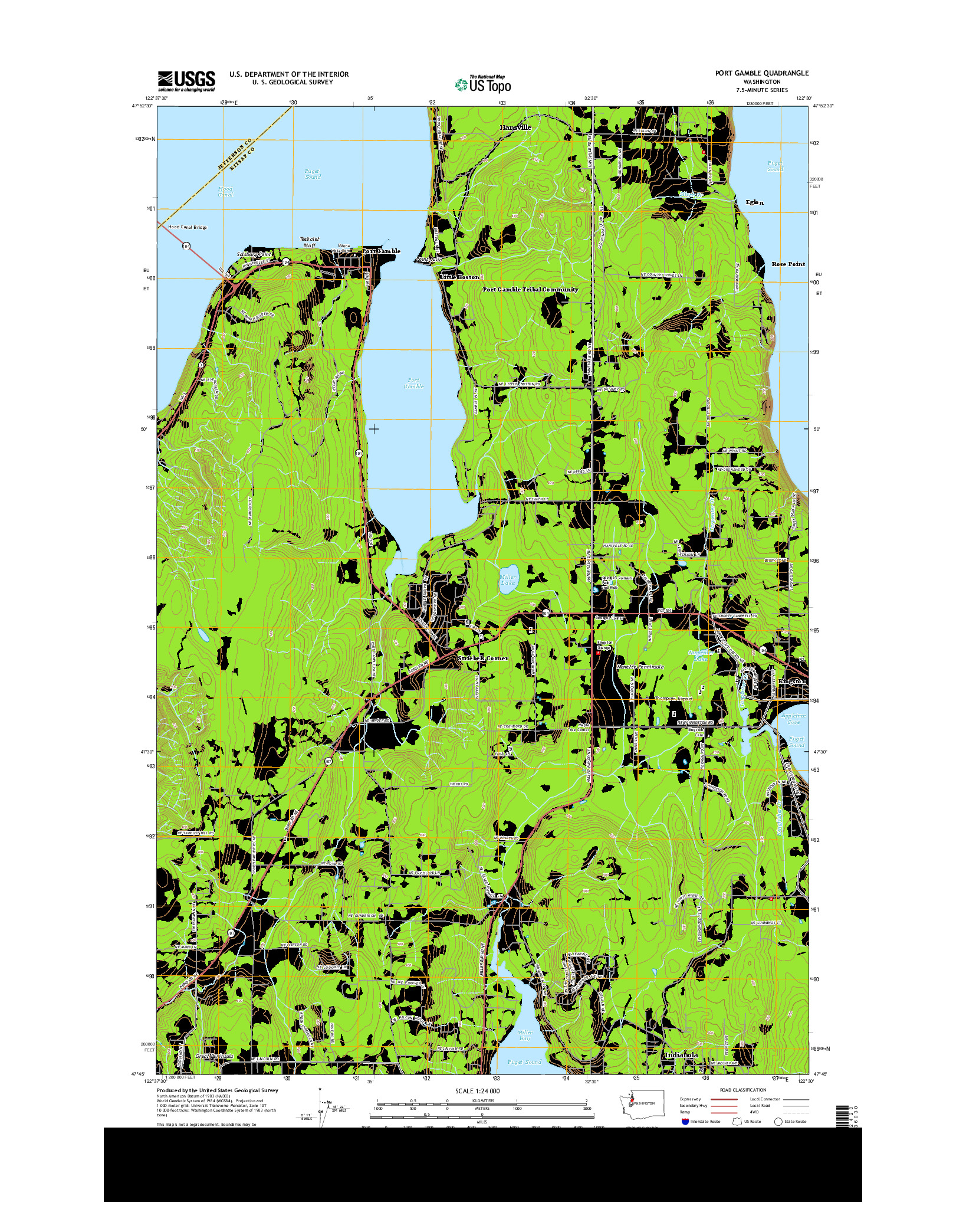 USGS US TOPO 7.5-MINUTE MAP FOR PORT GAMBLE, WA 2014