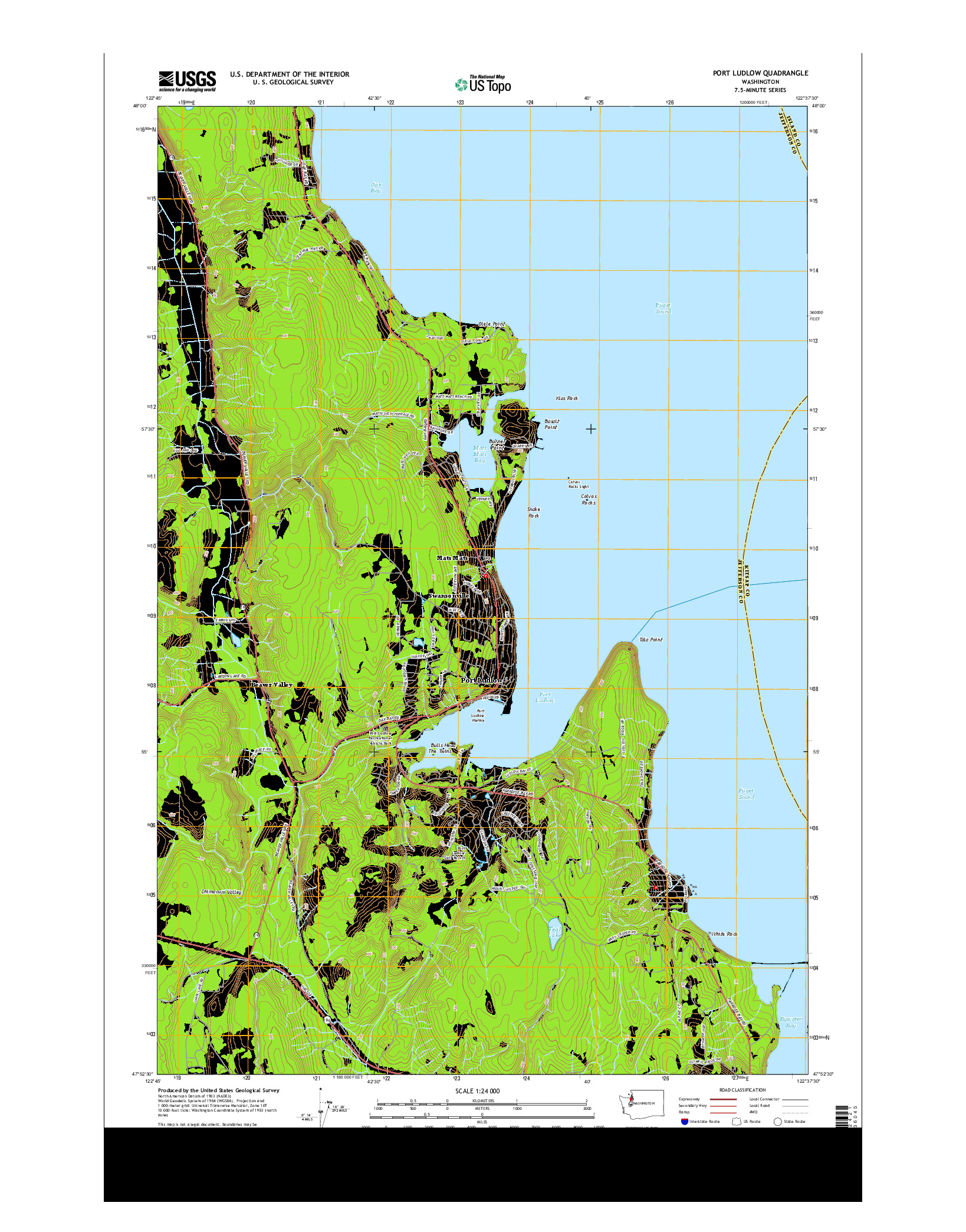 USGS US TOPO 7.5-MINUTE MAP FOR PORT LUDLOW, WA 2014