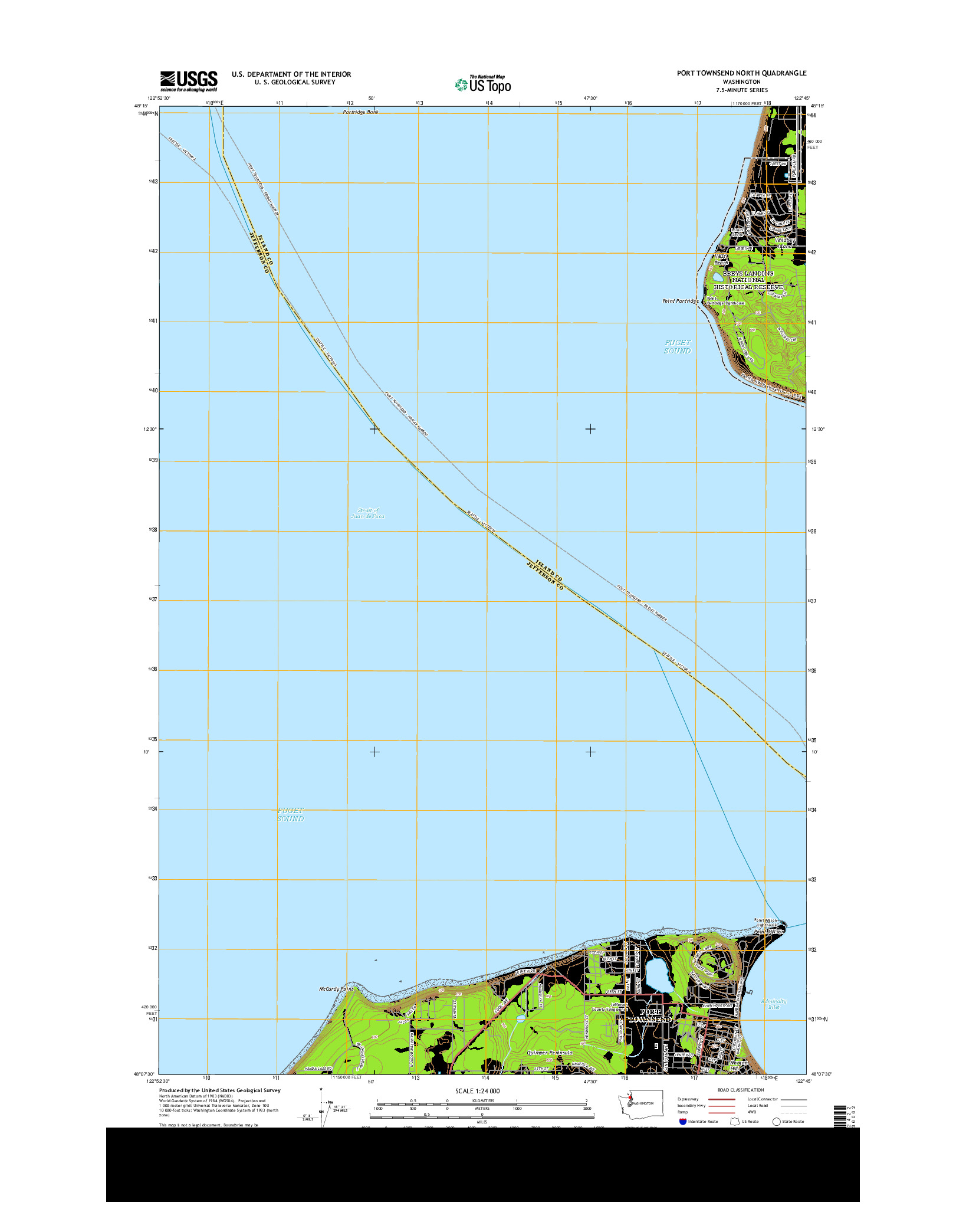 USGS US TOPO 7.5-MINUTE MAP FOR PORT TOWNSEND NORTH, WA 2014