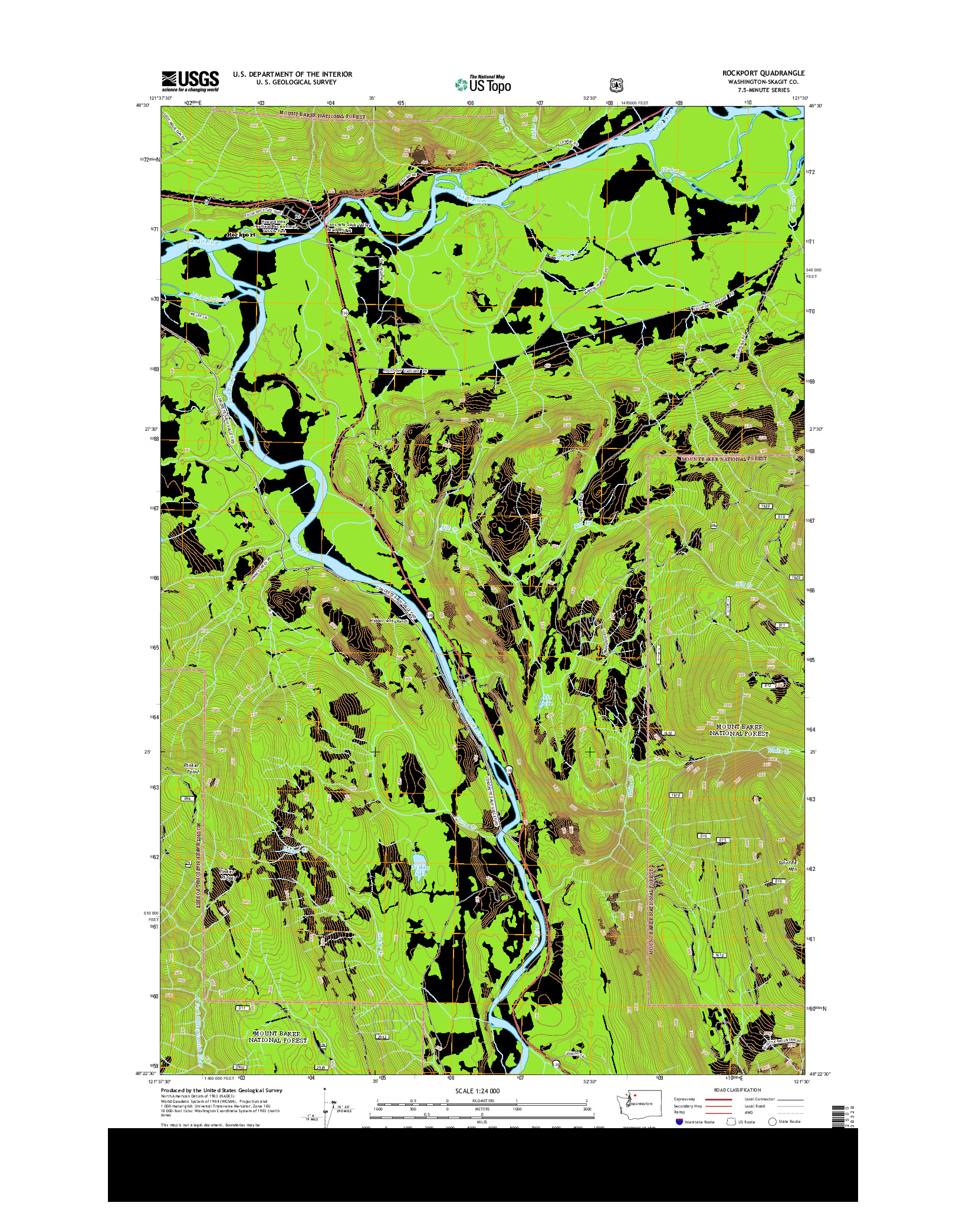 USGS US TOPO 7.5-MINUTE MAP FOR ROCKPORT, WA 2014