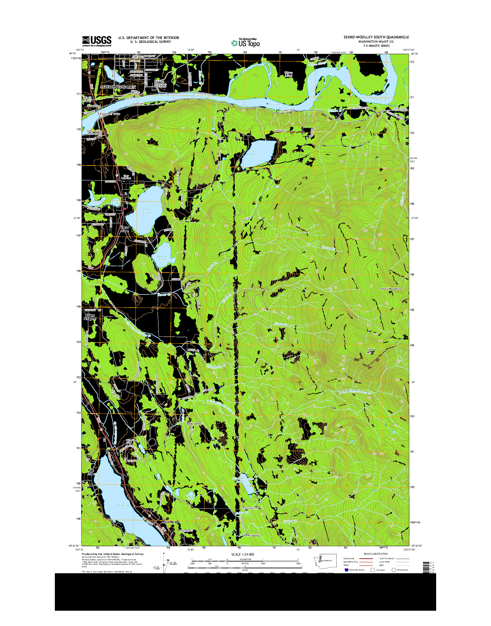USGS US TOPO 7.5-MINUTE MAP FOR SEDRO-WOOLLEY SOUTH, WA 2014