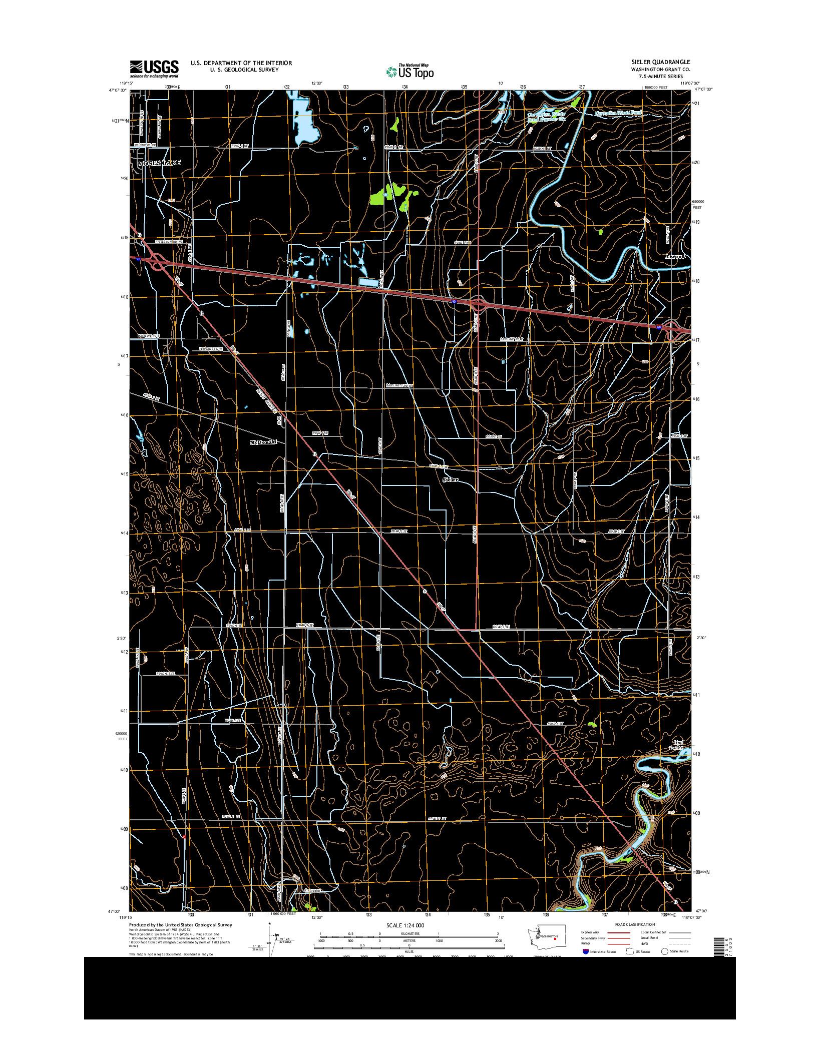 USGS US TOPO 7.5-MINUTE MAP FOR SIELER, WA 2014