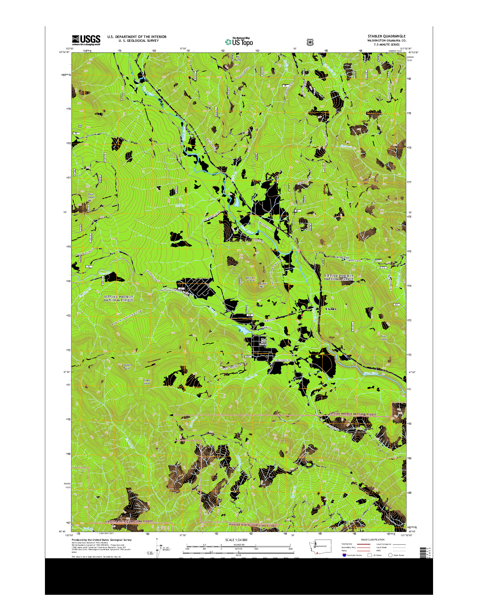 USGS US TOPO 7.5-MINUTE MAP FOR STABLER, WA 2014