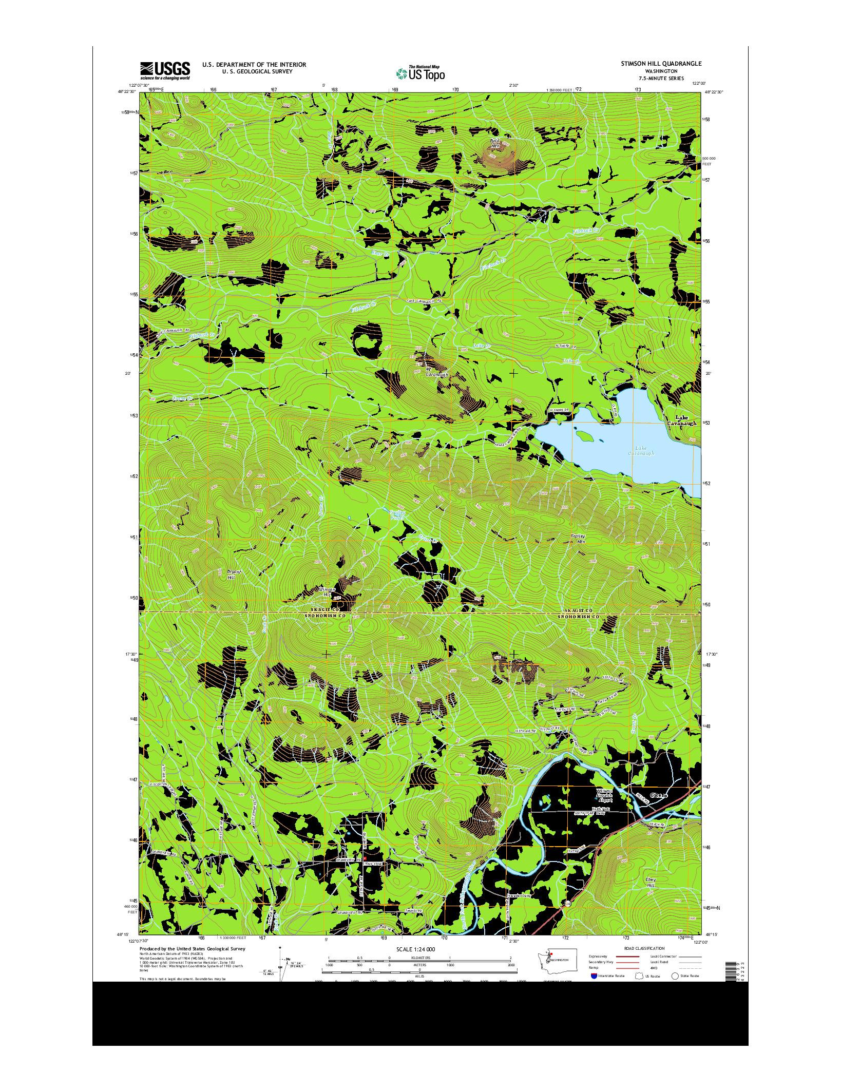 USGS US TOPO 7.5-MINUTE MAP FOR STIMSON HILL, WA 2014