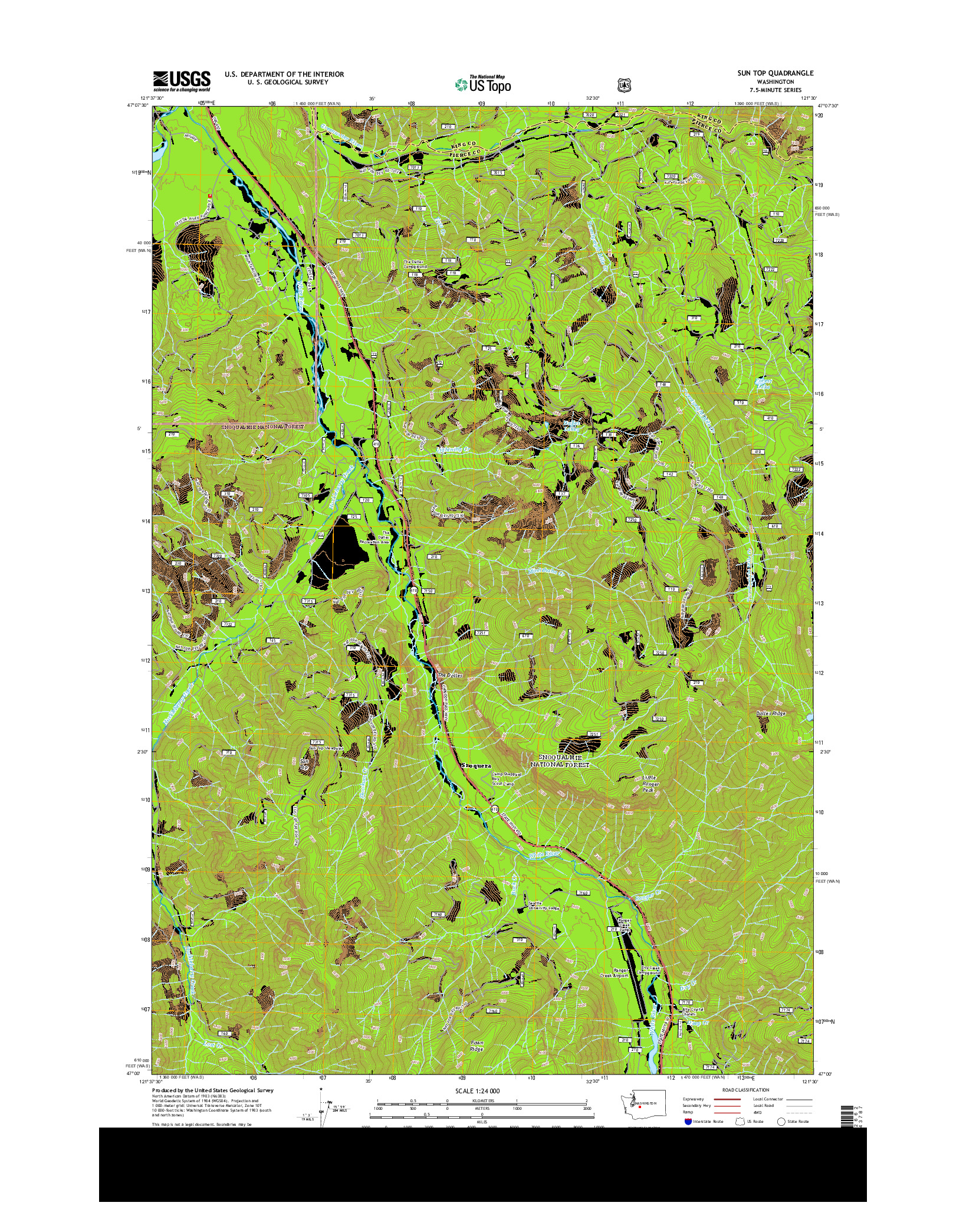 USGS US TOPO 7.5-MINUTE MAP FOR SUN TOP, WA 2014