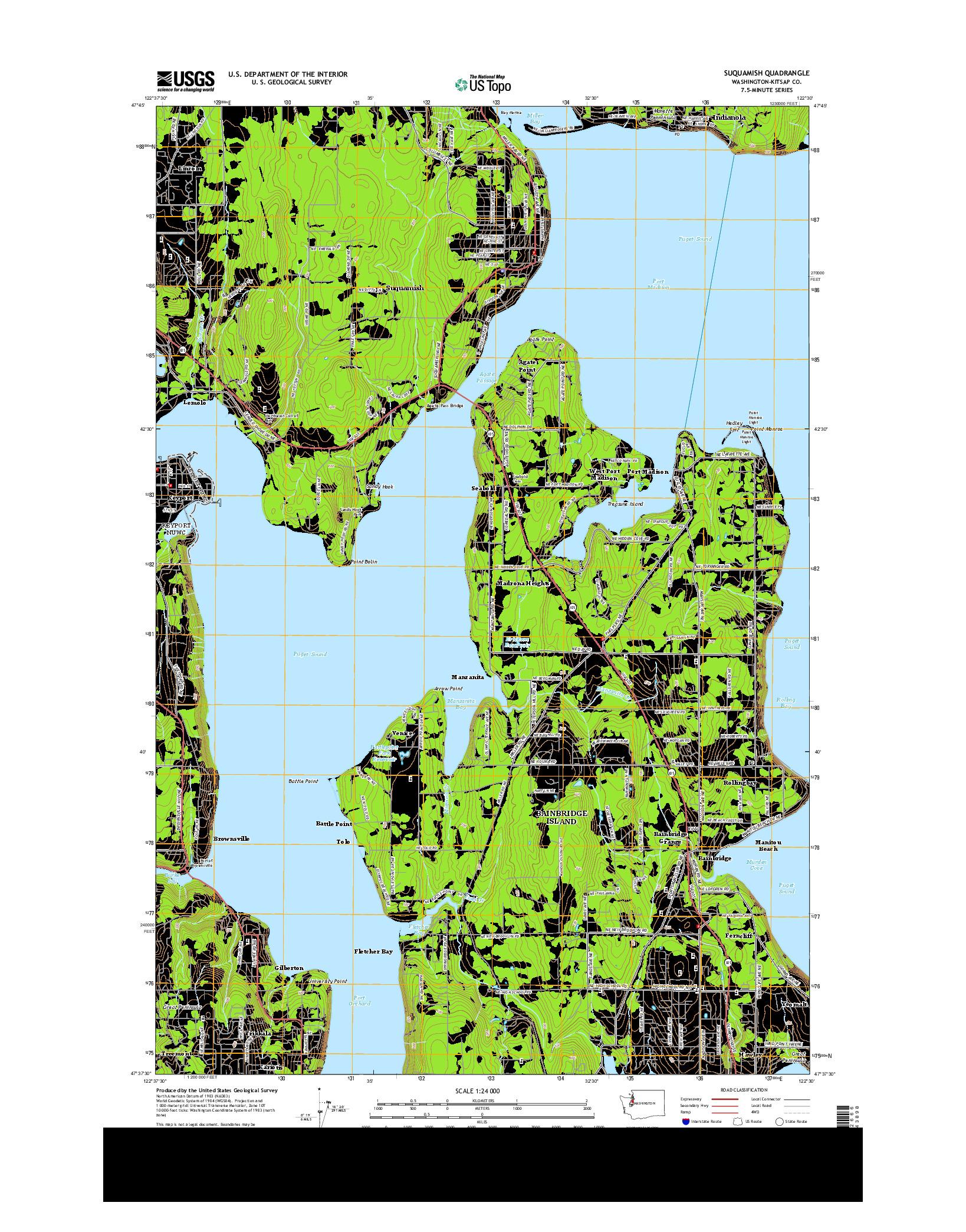 USGS US TOPO 7.5-MINUTE MAP FOR SUQUAMISH, WA 2014