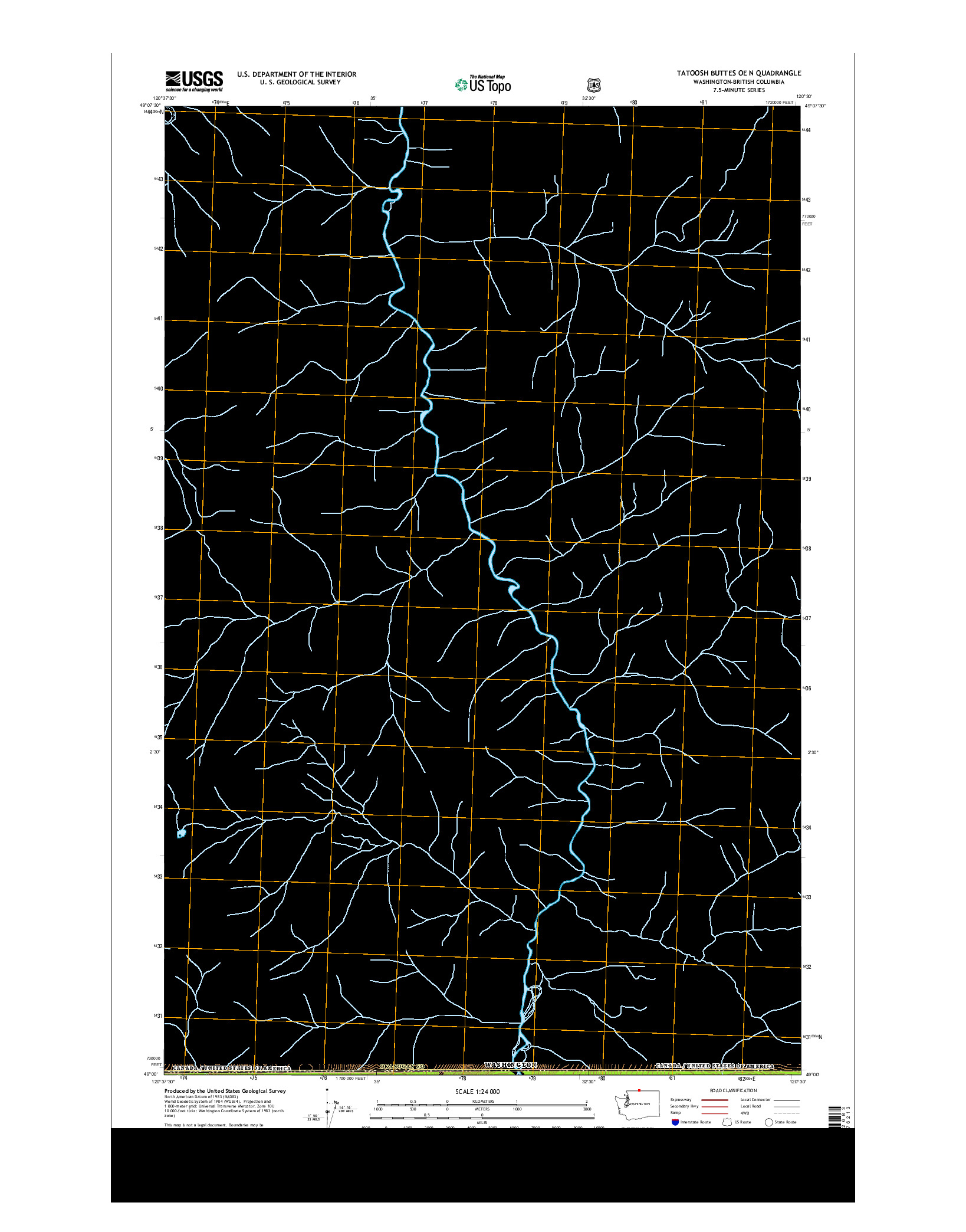 USGS US TOPO 7.5-MINUTE MAP FOR TATOOSH BUTTES OE N, WA-BC 2014