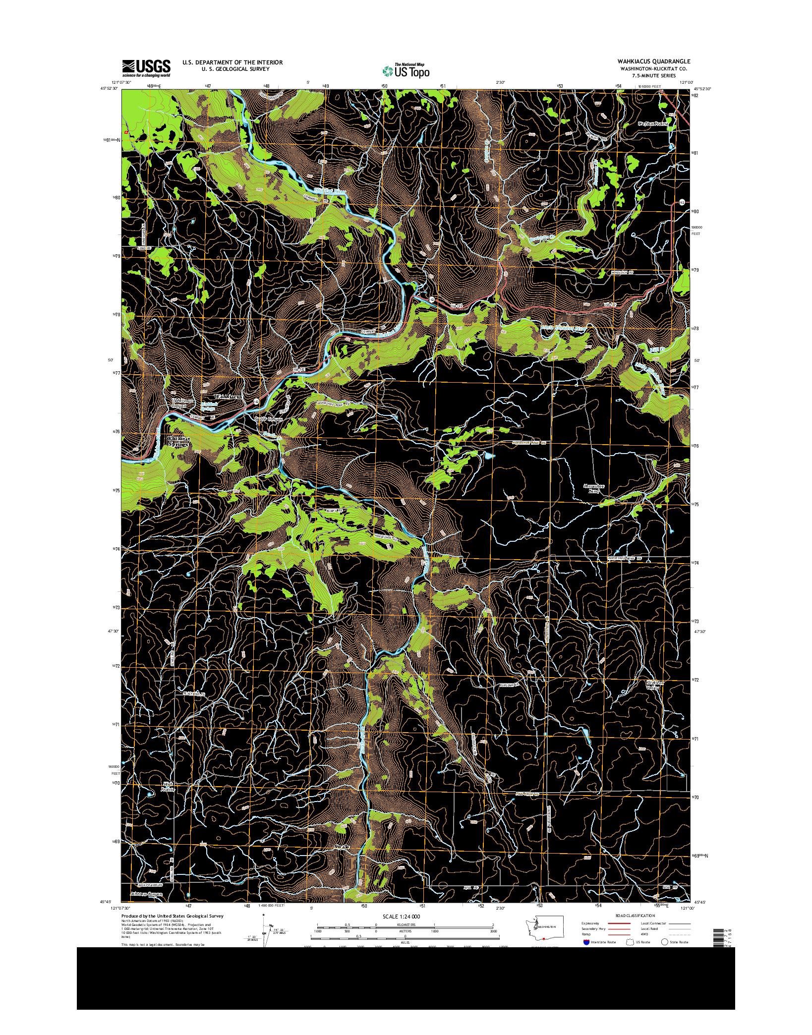 USGS US TOPO 7.5-MINUTE MAP FOR WAHKIACUS, WA 2014