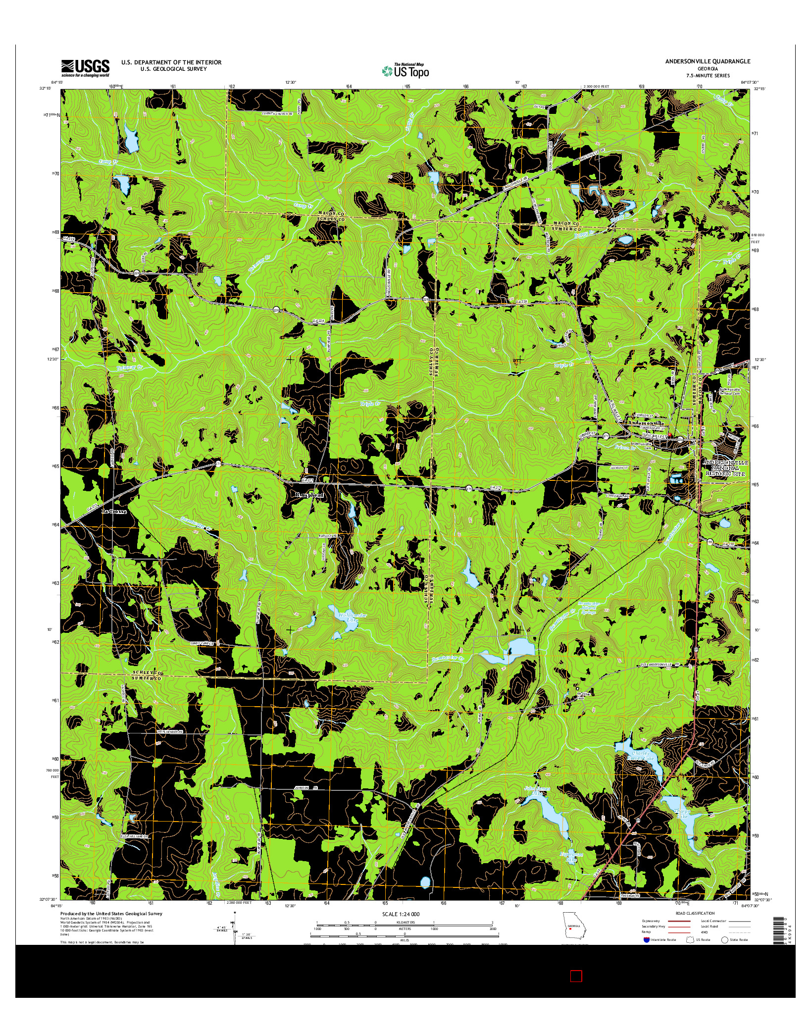USGS US TOPO 7.5-MINUTE MAP FOR ANDERSONVILLE, GA 2014