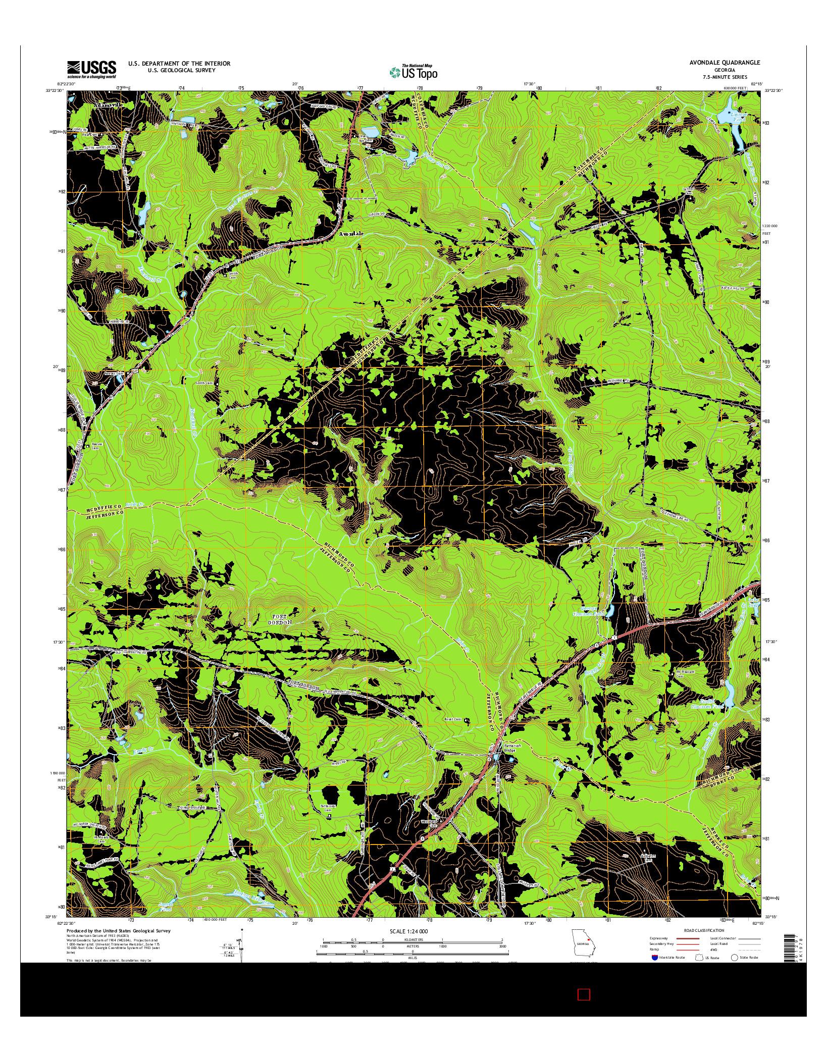 USGS US TOPO 7.5-MINUTE MAP FOR AVONDALE, GA 2014