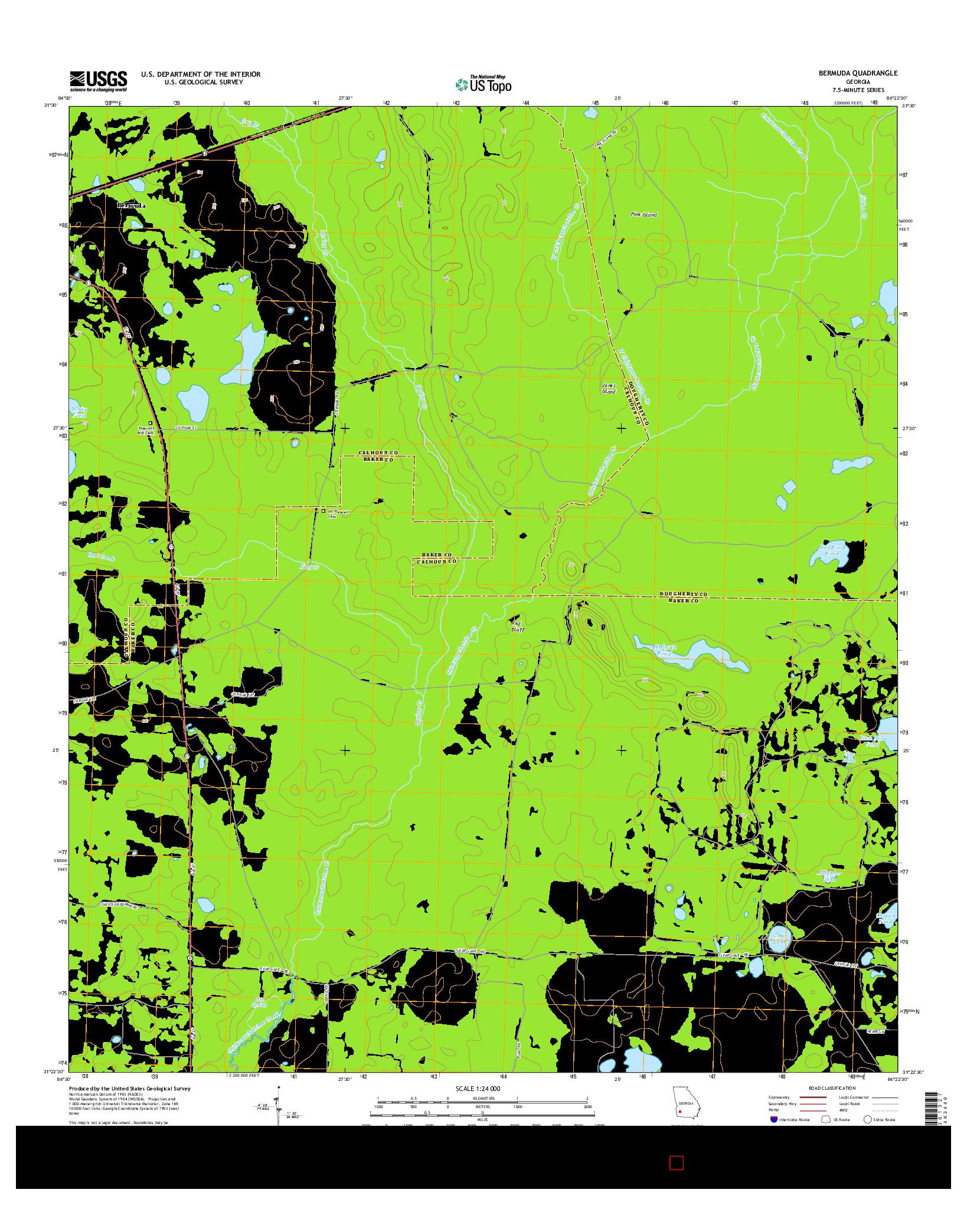 USGS US TOPO 7.5-MINUTE MAP FOR BERMUDA, GA 2014