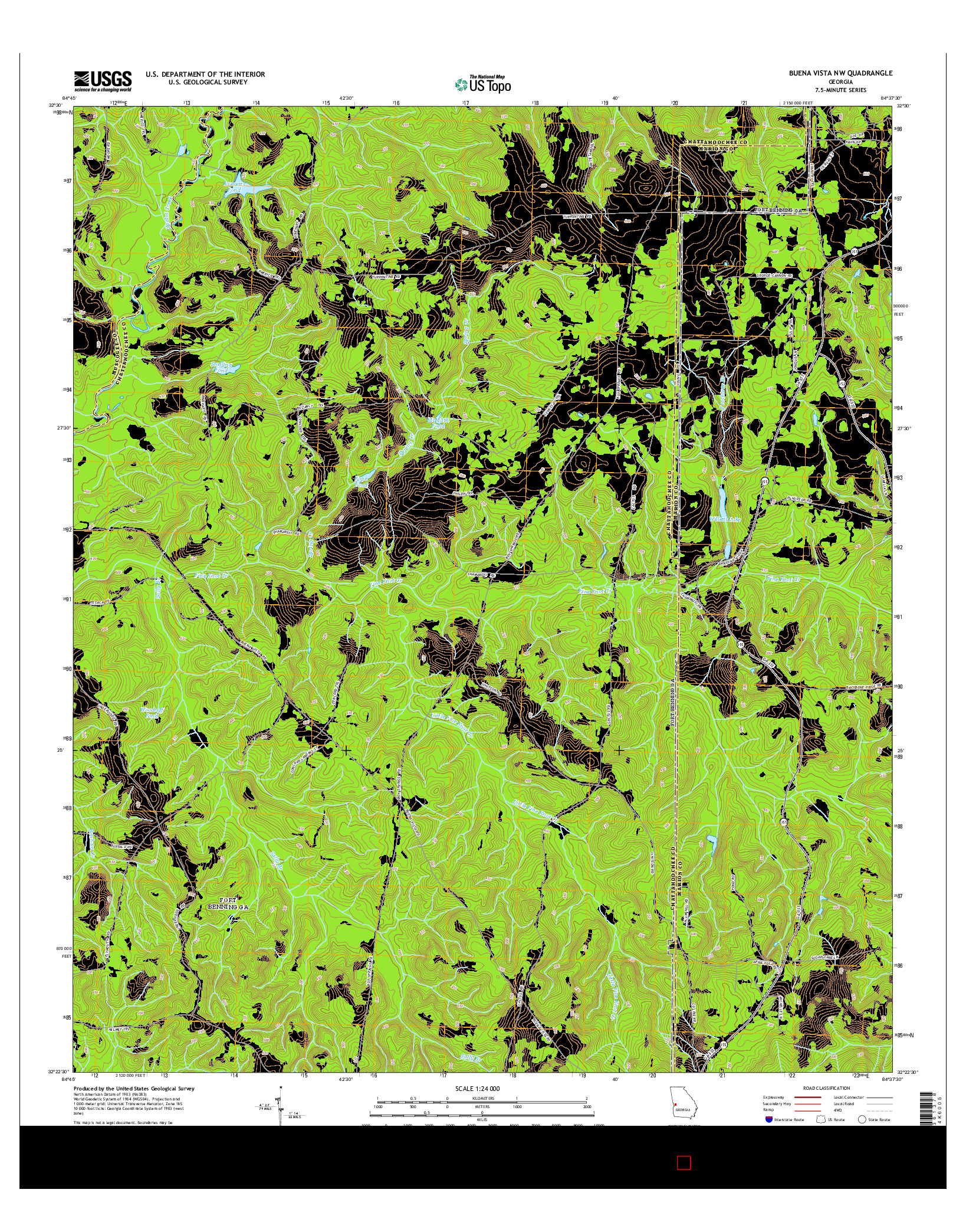 USGS US TOPO 7.5-MINUTE MAP FOR BUENA VISTA NW, GA 2014
