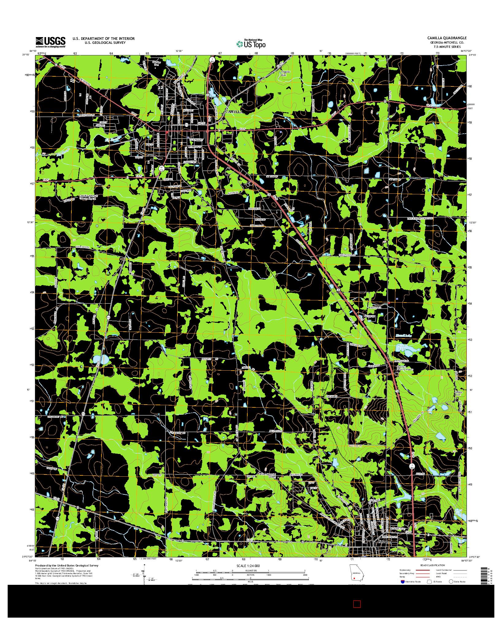 USGS US TOPO 7.5-MINUTE MAP FOR CAMILLA, GA 2014