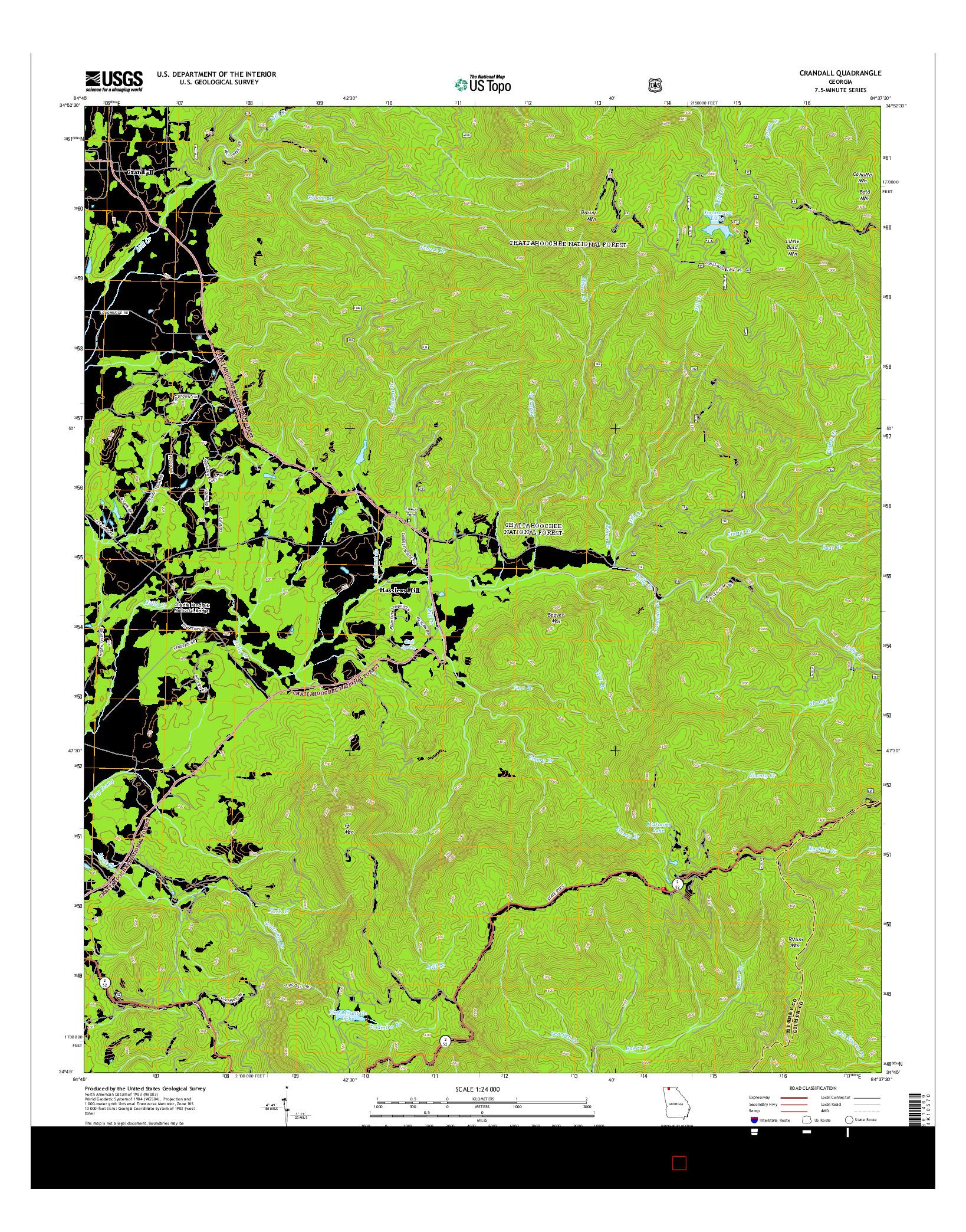 USGS US TOPO 7.5-MINUTE MAP FOR CRANDALL, GA 2014
