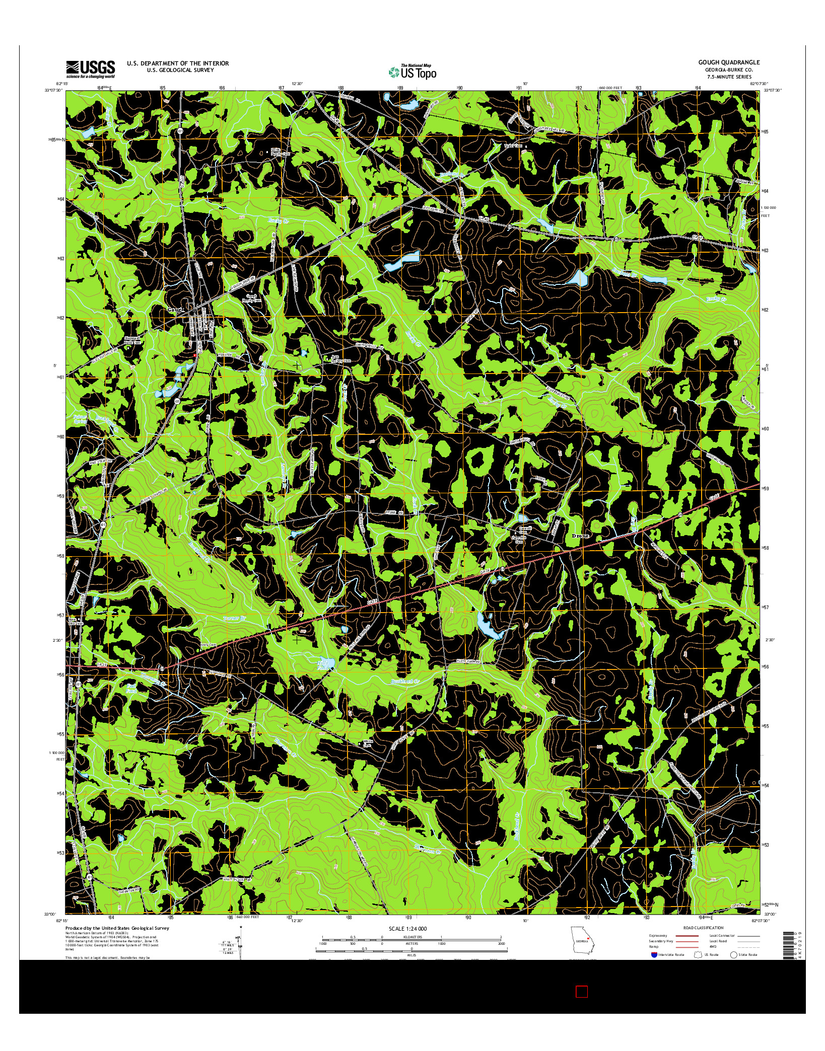 USGS US TOPO 7.5-MINUTE MAP FOR GOUGH, GA 2014