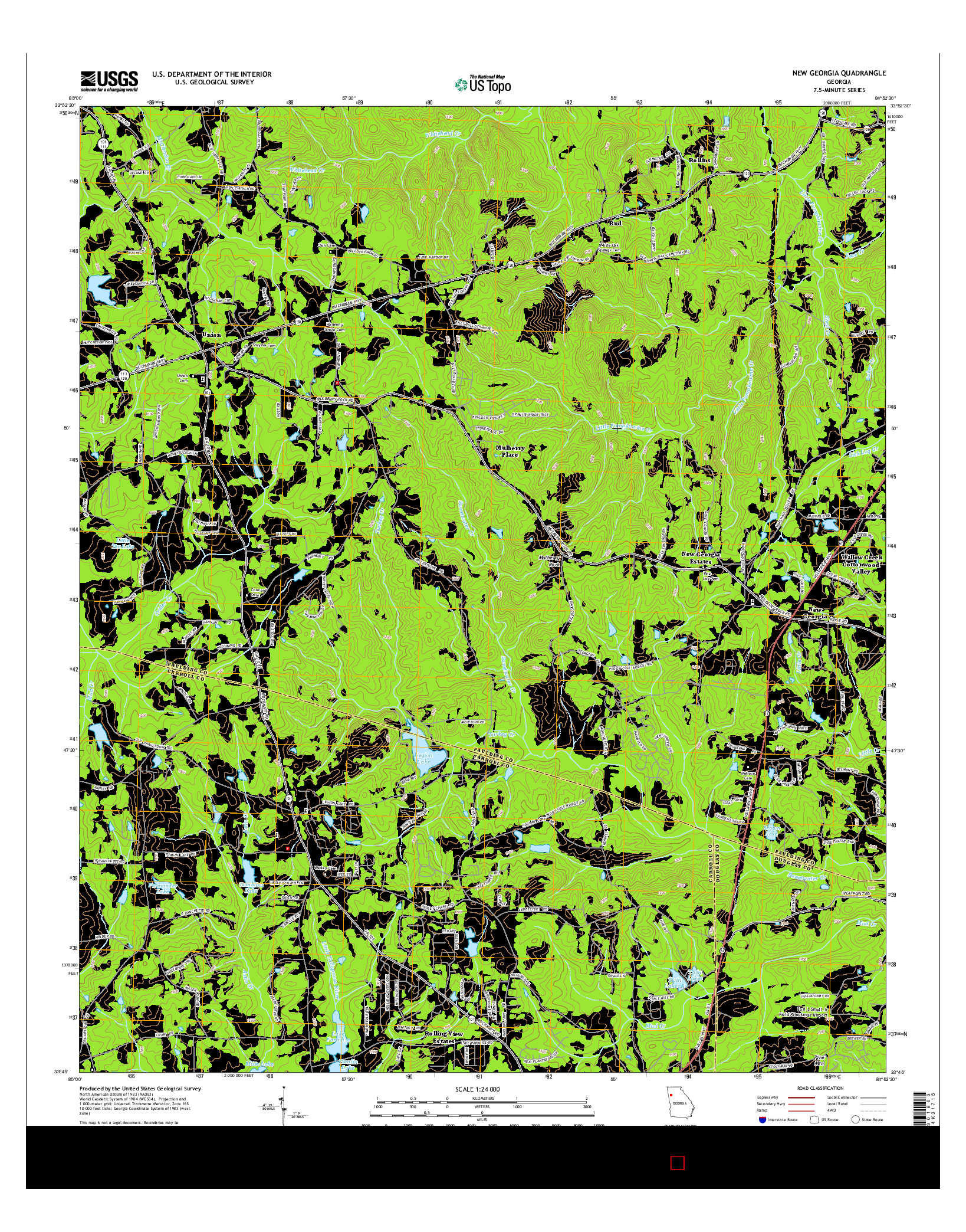 USGS US TOPO 7.5-MINUTE MAP FOR NEW GEORGIA, GA 2014