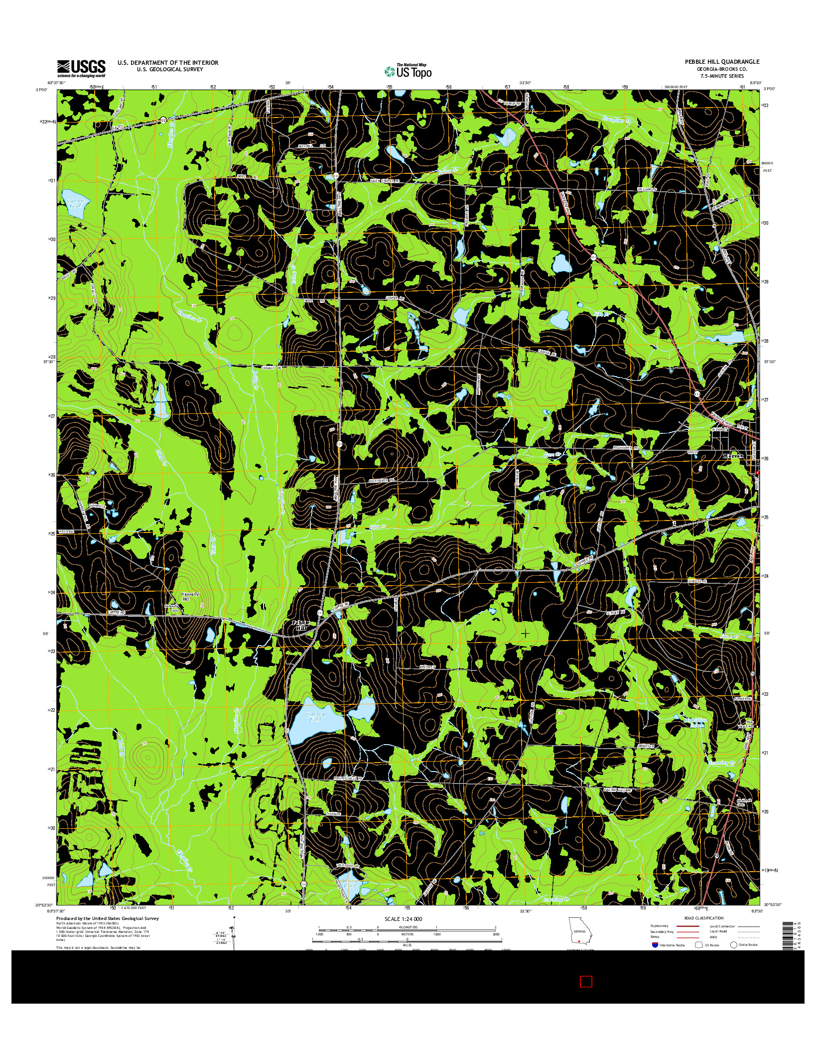 USGS US TOPO 7.5-MINUTE MAP FOR PEBBLE HILL, GA 2014