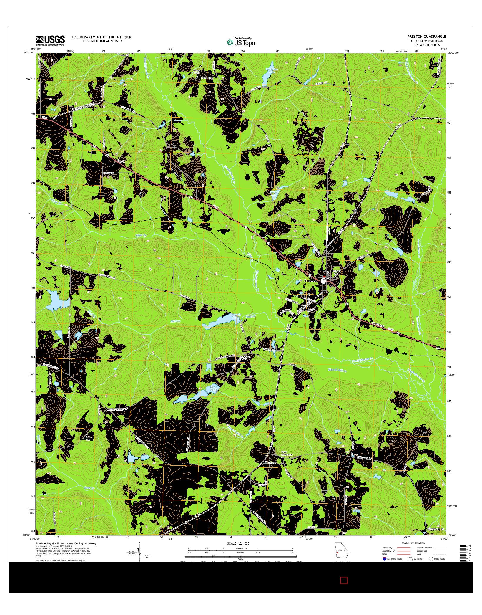 USGS US TOPO 7.5-MINUTE MAP FOR PRESTON, GA 2014