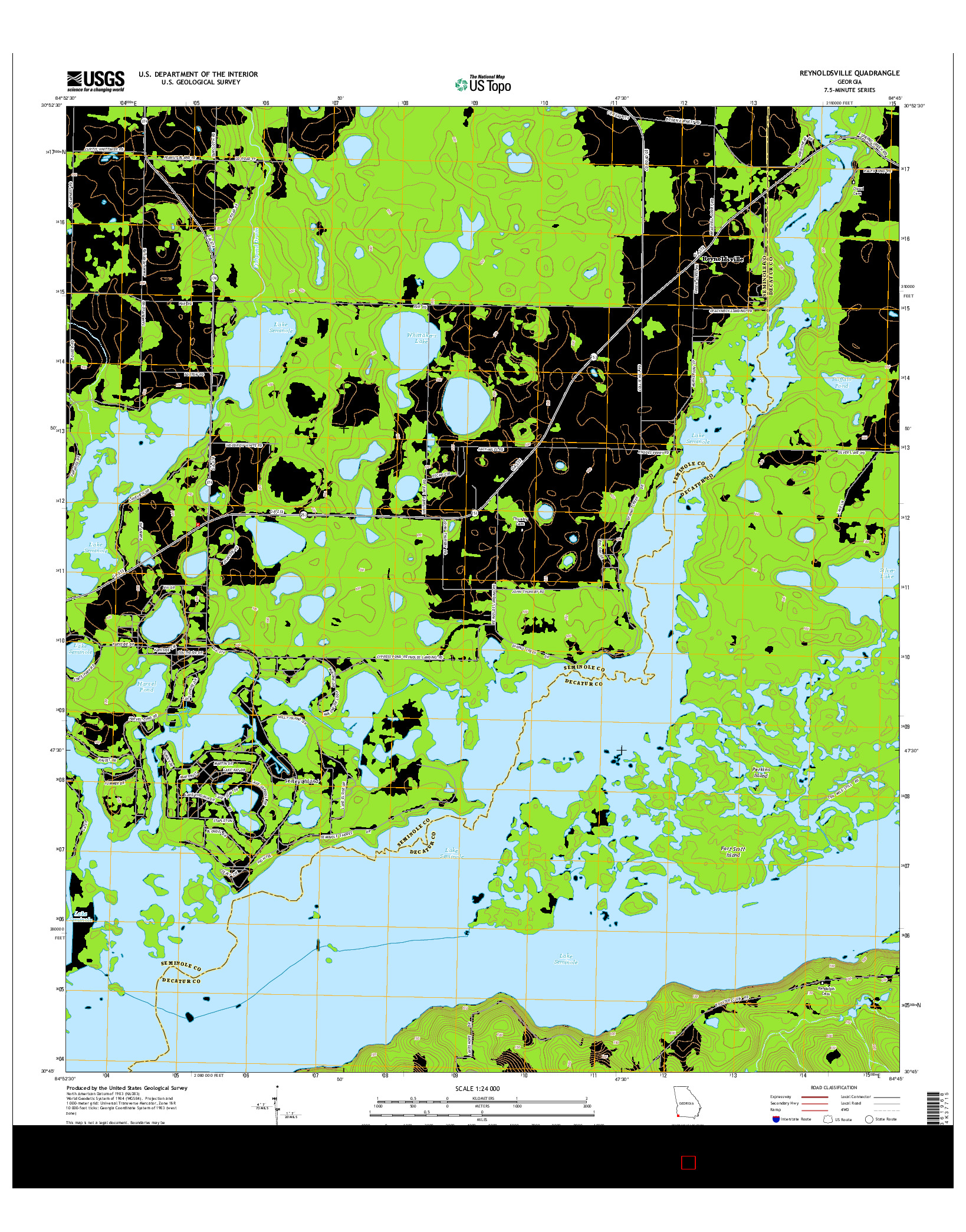 USGS US TOPO 7.5-MINUTE MAP FOR REYNOLDSVILLE, GA 2014