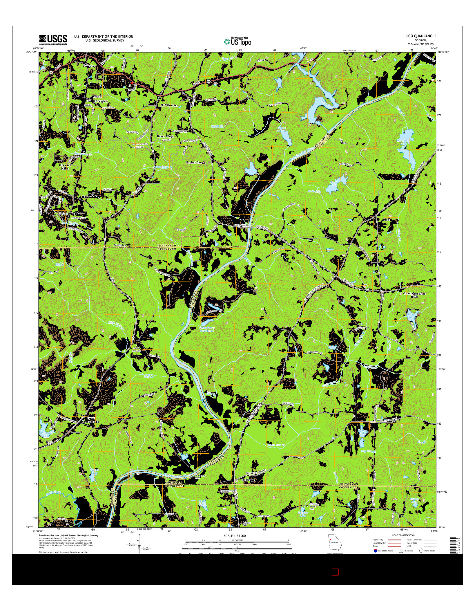 USGS US TOPO 7.5-MINUTE MAP FOR RICO, GA 2014