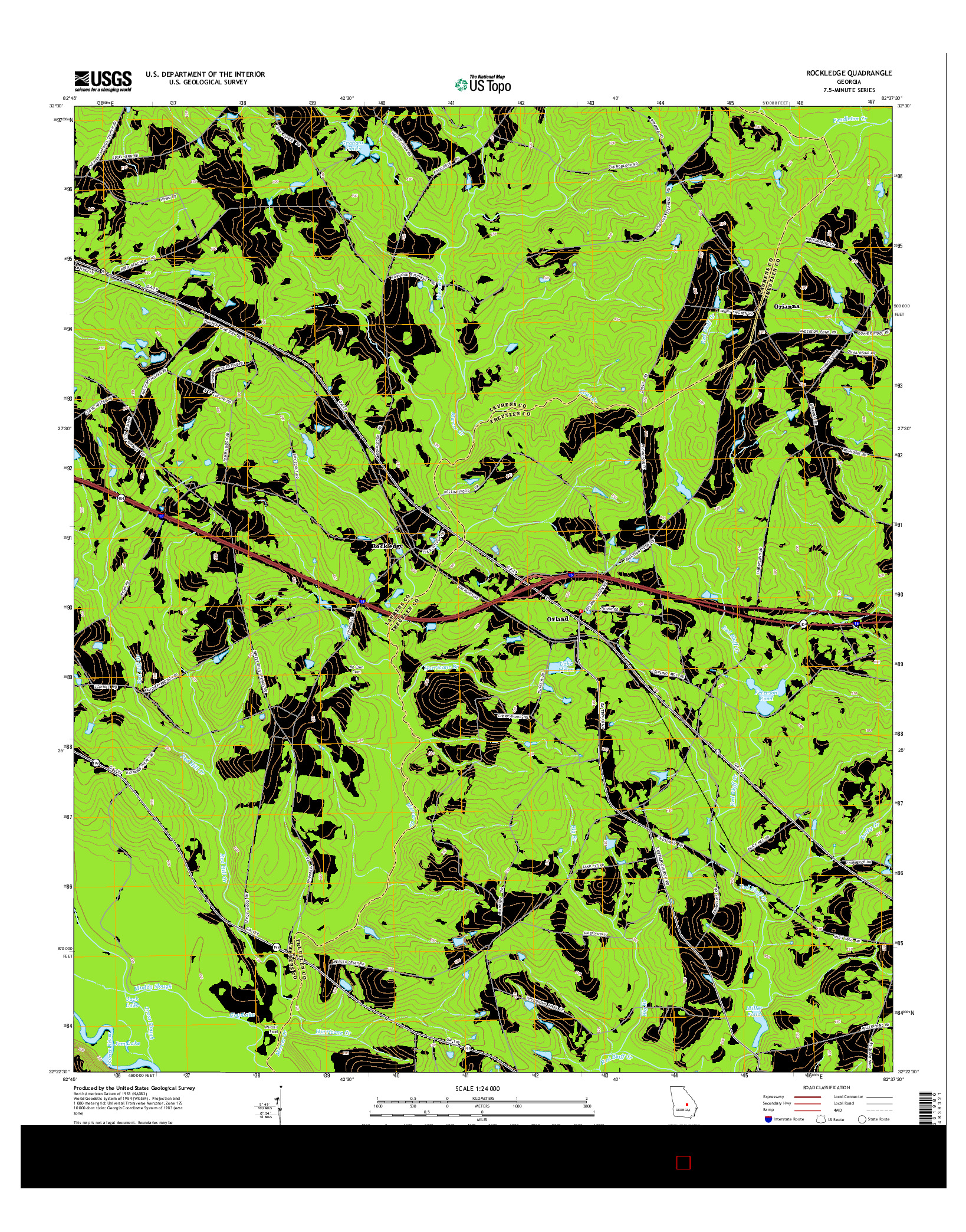 USGS US TOPO 7.5-MINUTE MAP FOR ROCKLEDGE, GA 2014