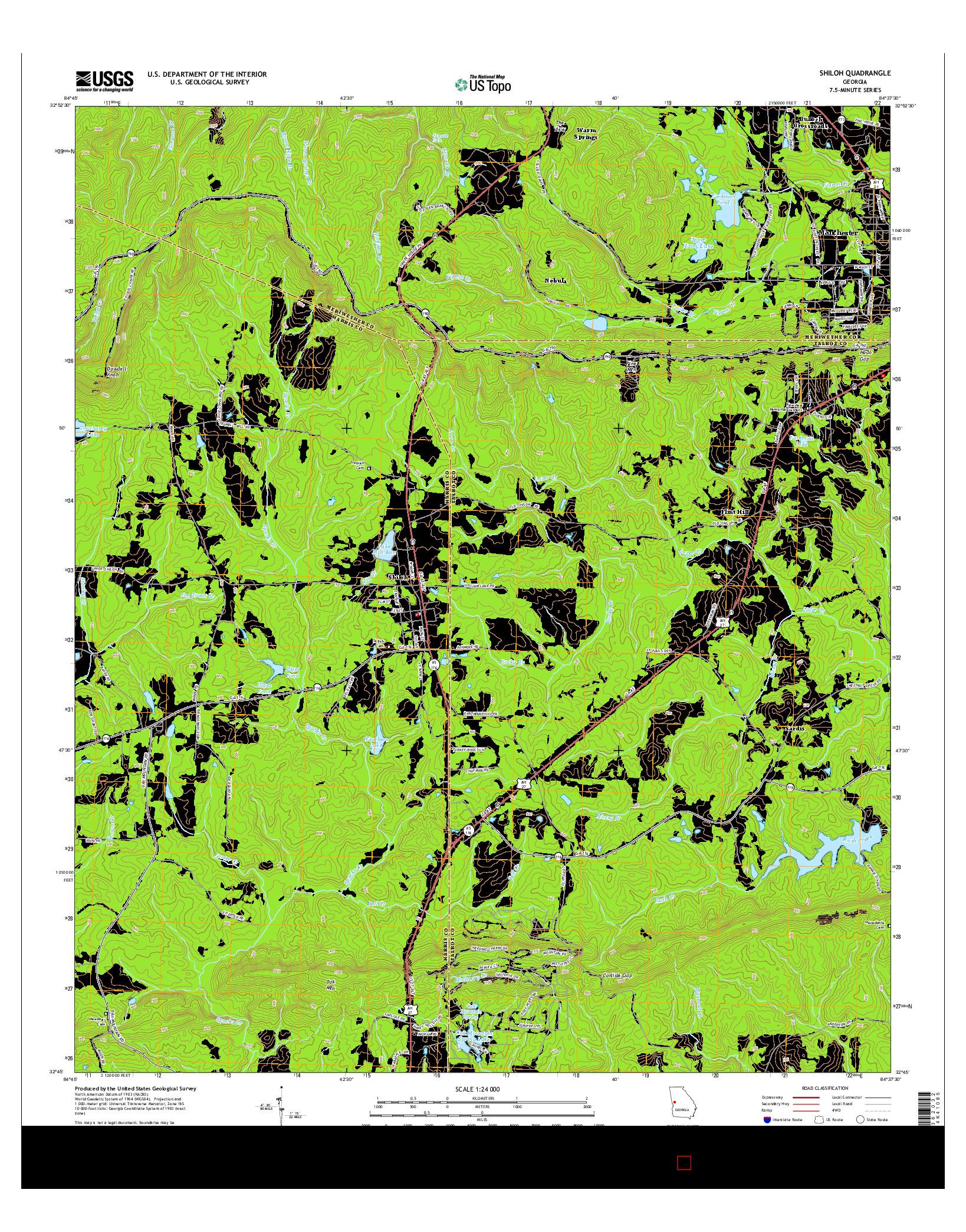 USGS US TOPO 7.5-MINUTE MAP FOR SHILOH, GA 2014