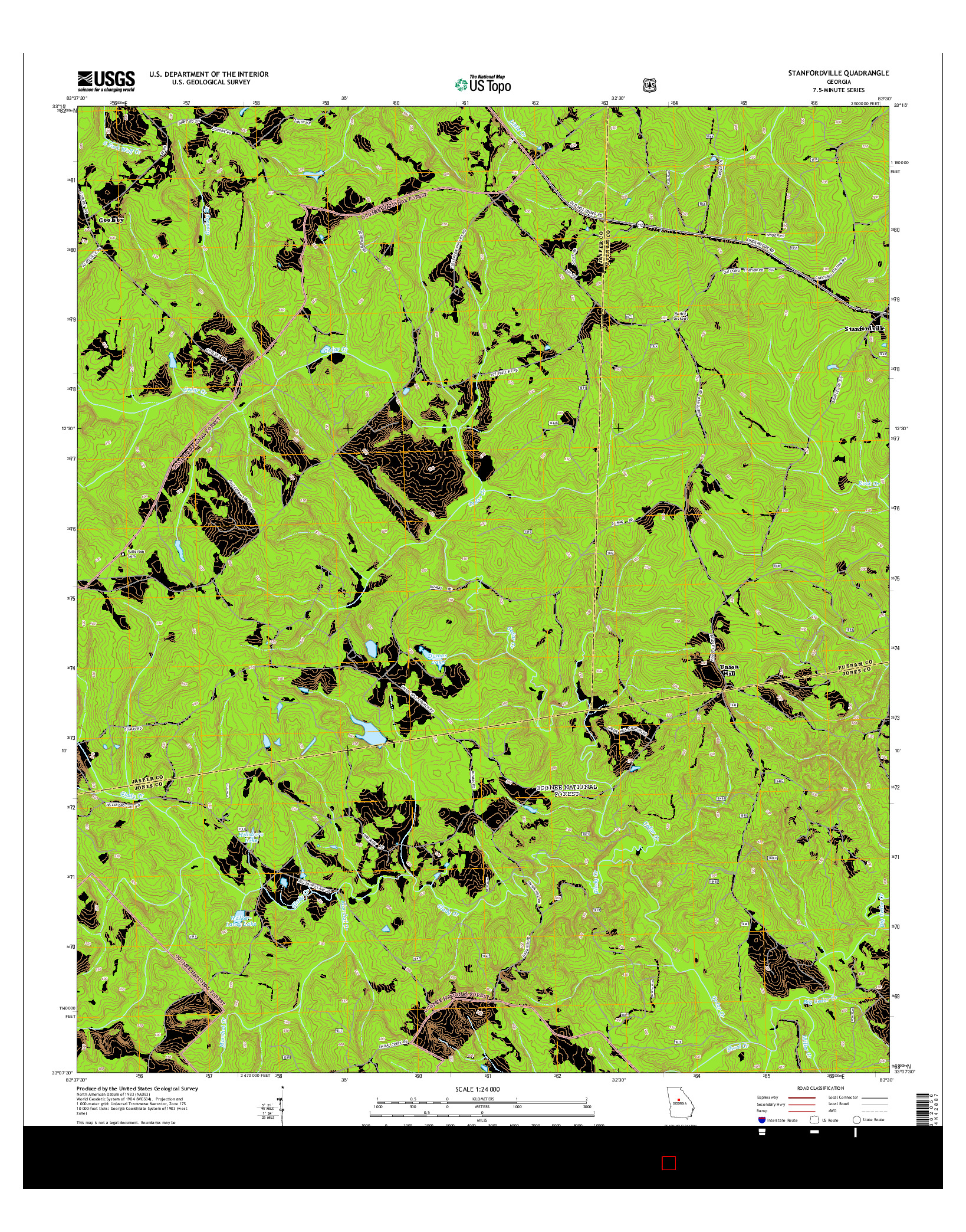 USGS US TOPO 7.5-MINUTE MAP FOR STANFORDVILLE, GA 2014